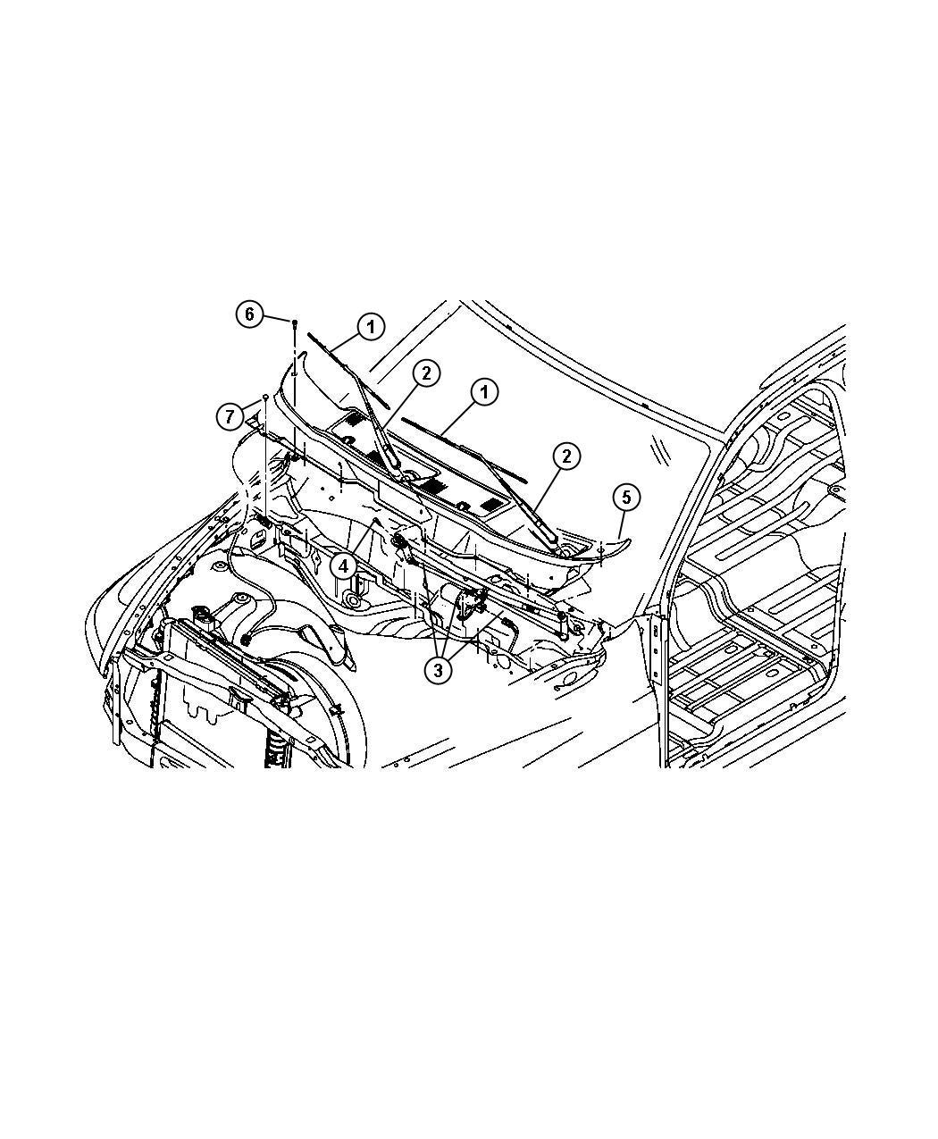 Dodge Ram Lever Wiper Motor