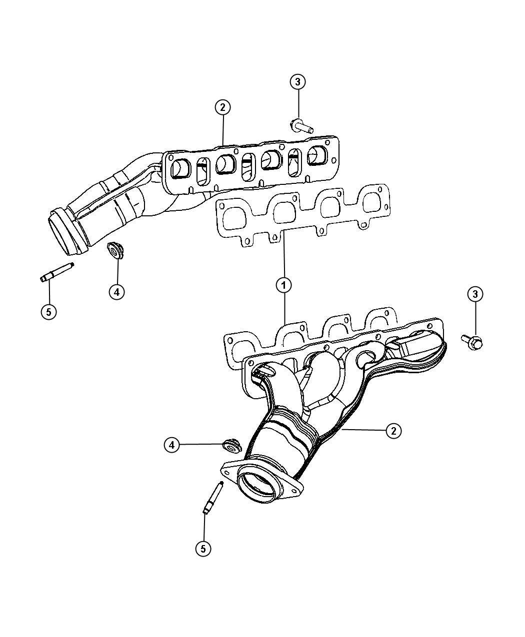 Dodge Challenger Gasket Exhaust Manifold Left Left