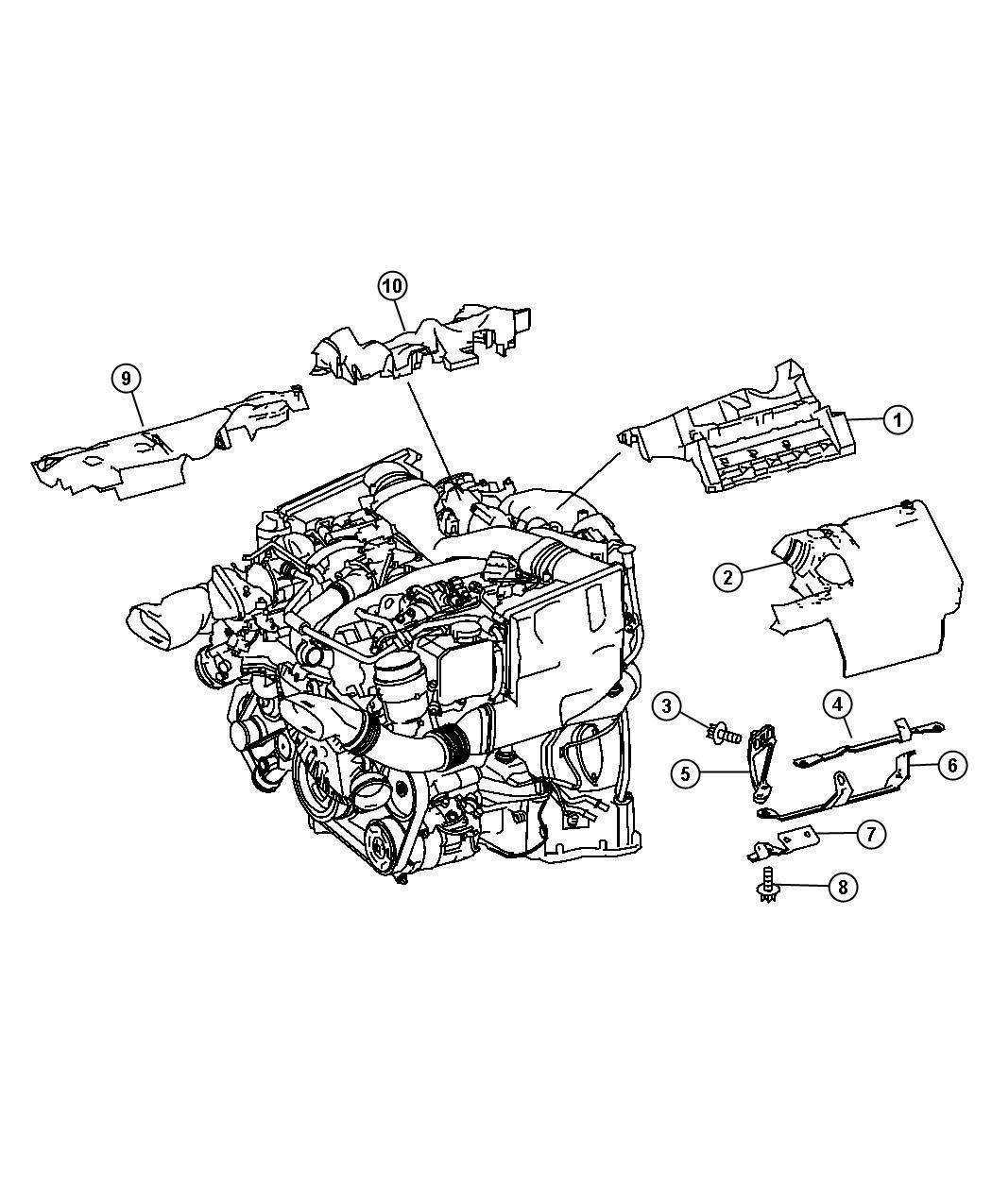 Dodge Sprinter Bracket Engine Covering