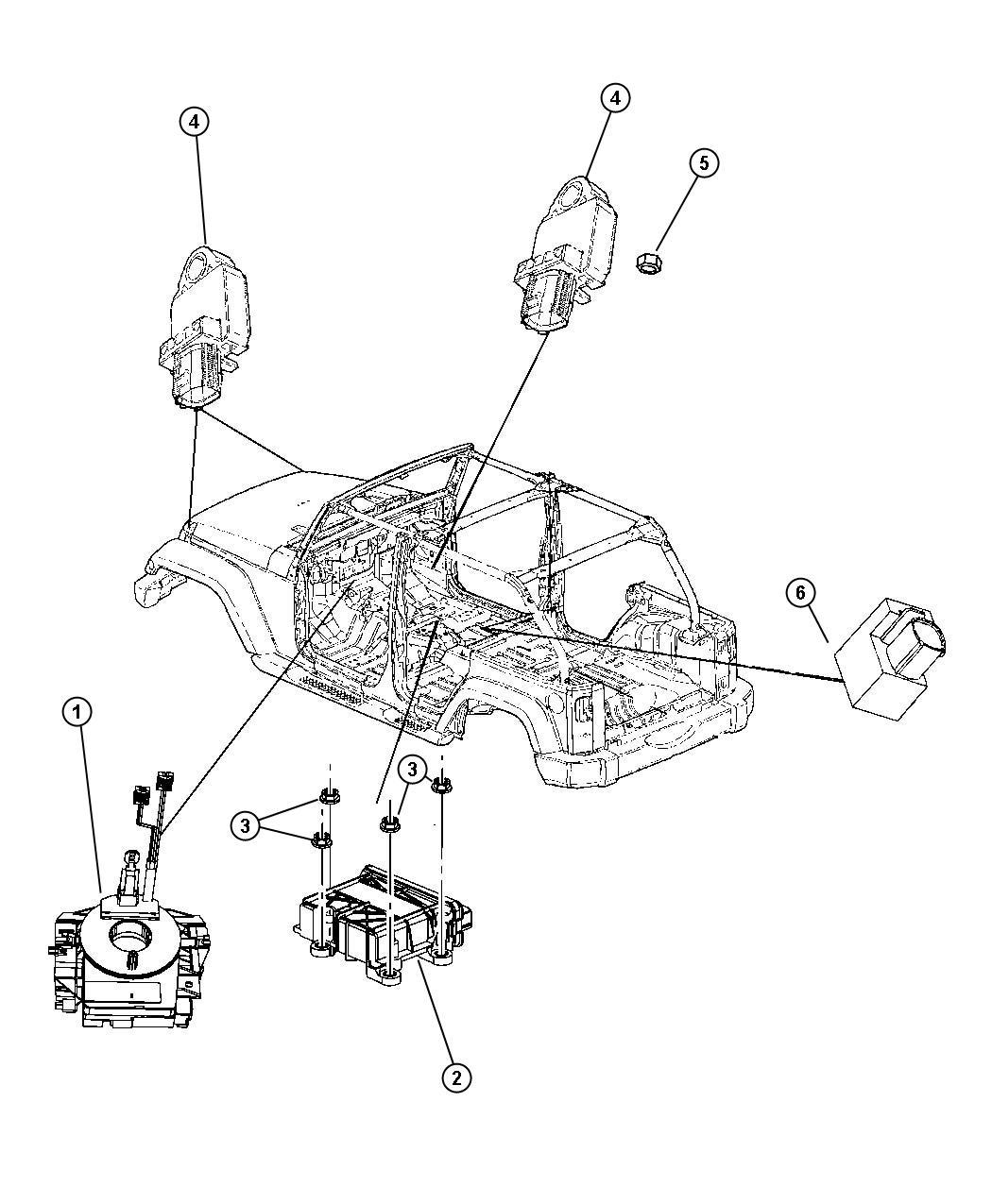 Jeep Wrangler Module Occupant Restraint Advanced