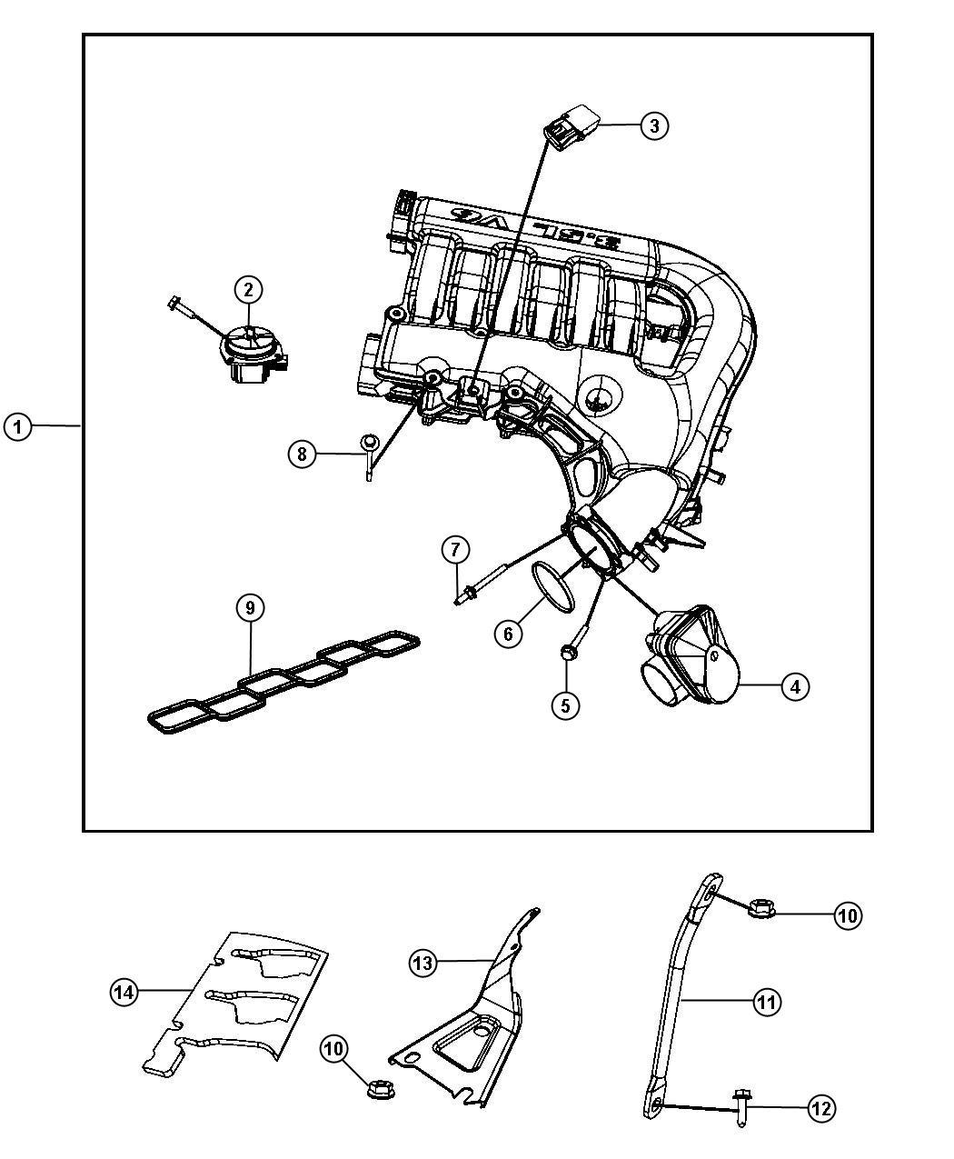 Dodge Charger Intake Manifold Plenum 3 5l Egg