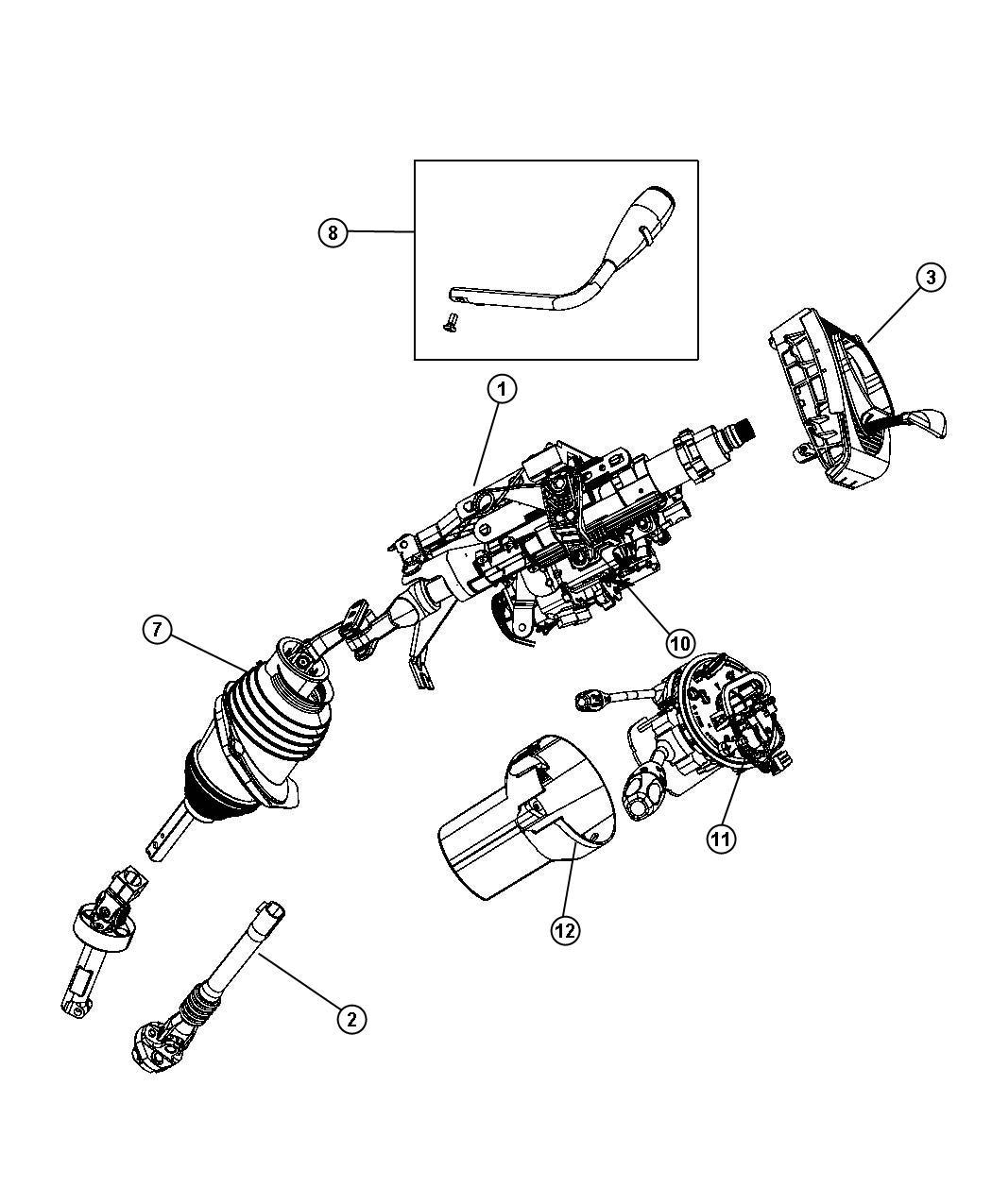 Dodge Charger Module Steering Control Sau Tilt