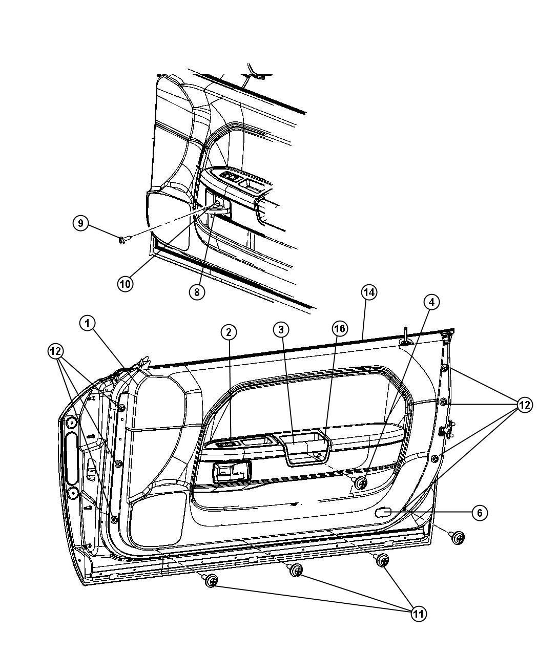Dodge Molding Kit Door Belt Mopar Hood Scoop