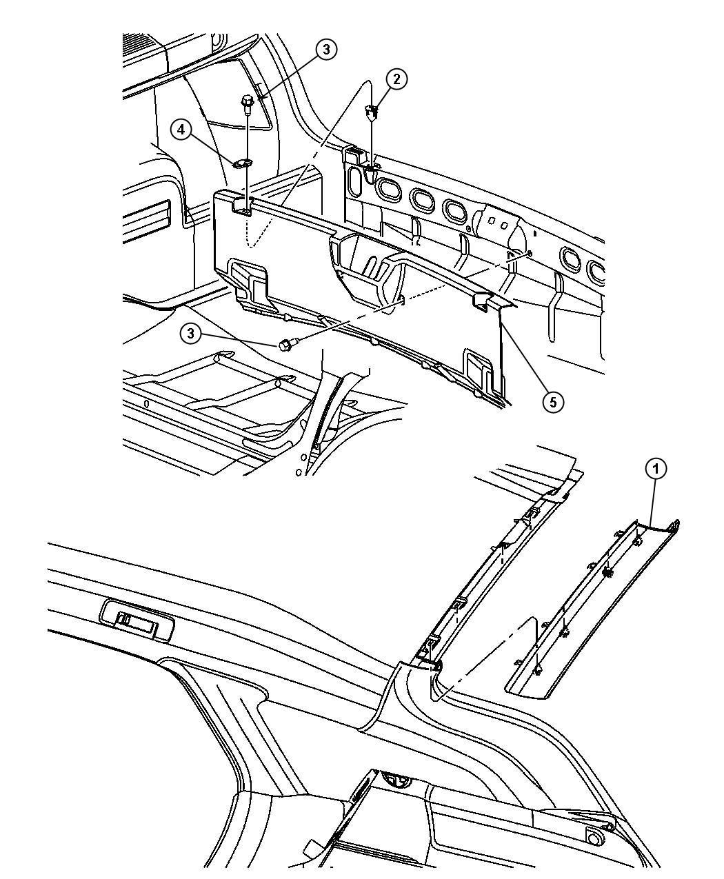 Dodge Magnum Header Panel Trim All Trim Codes Color