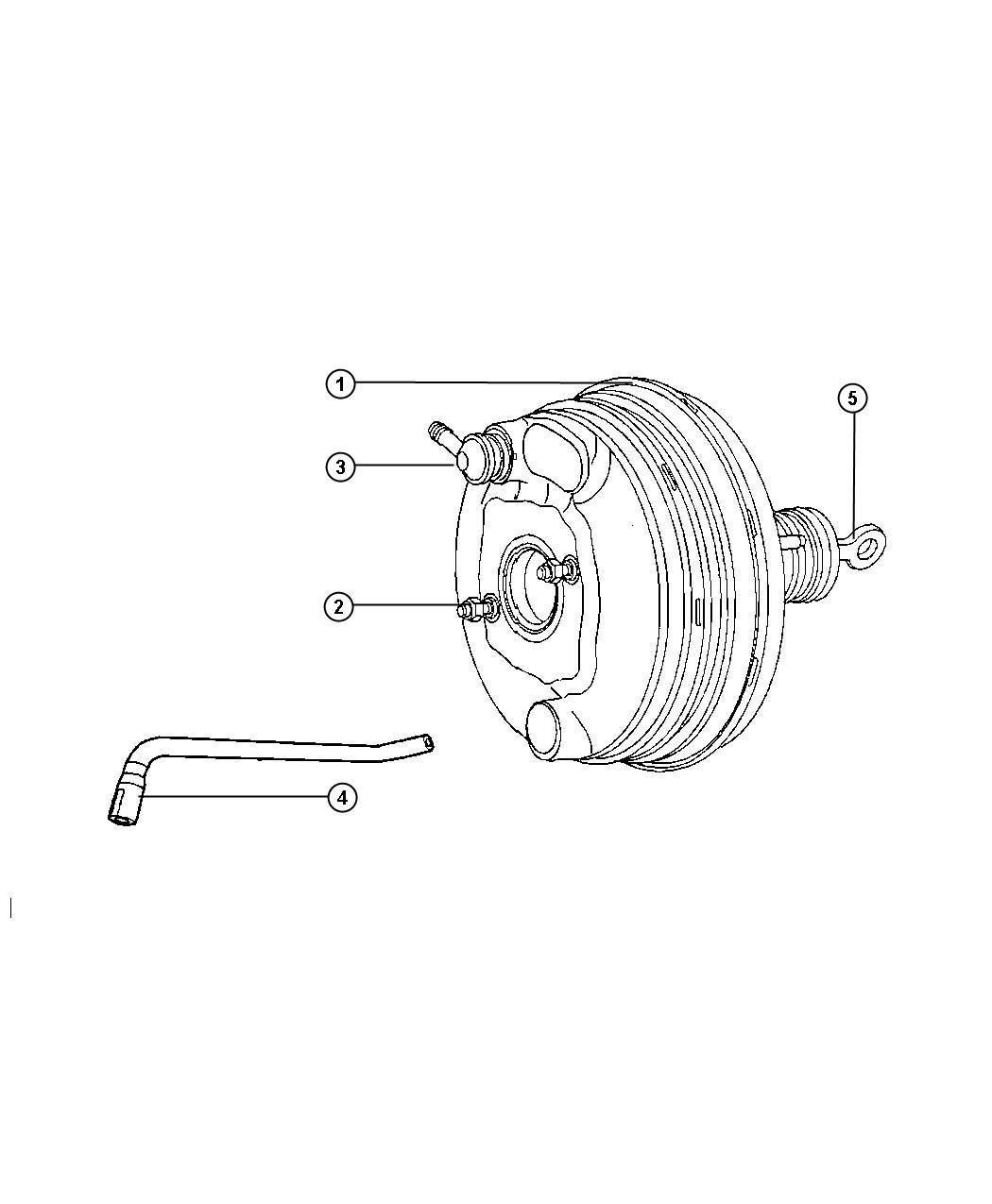 Chrysler 300 Hose Brake Booster Vacuum Right Hand Drive