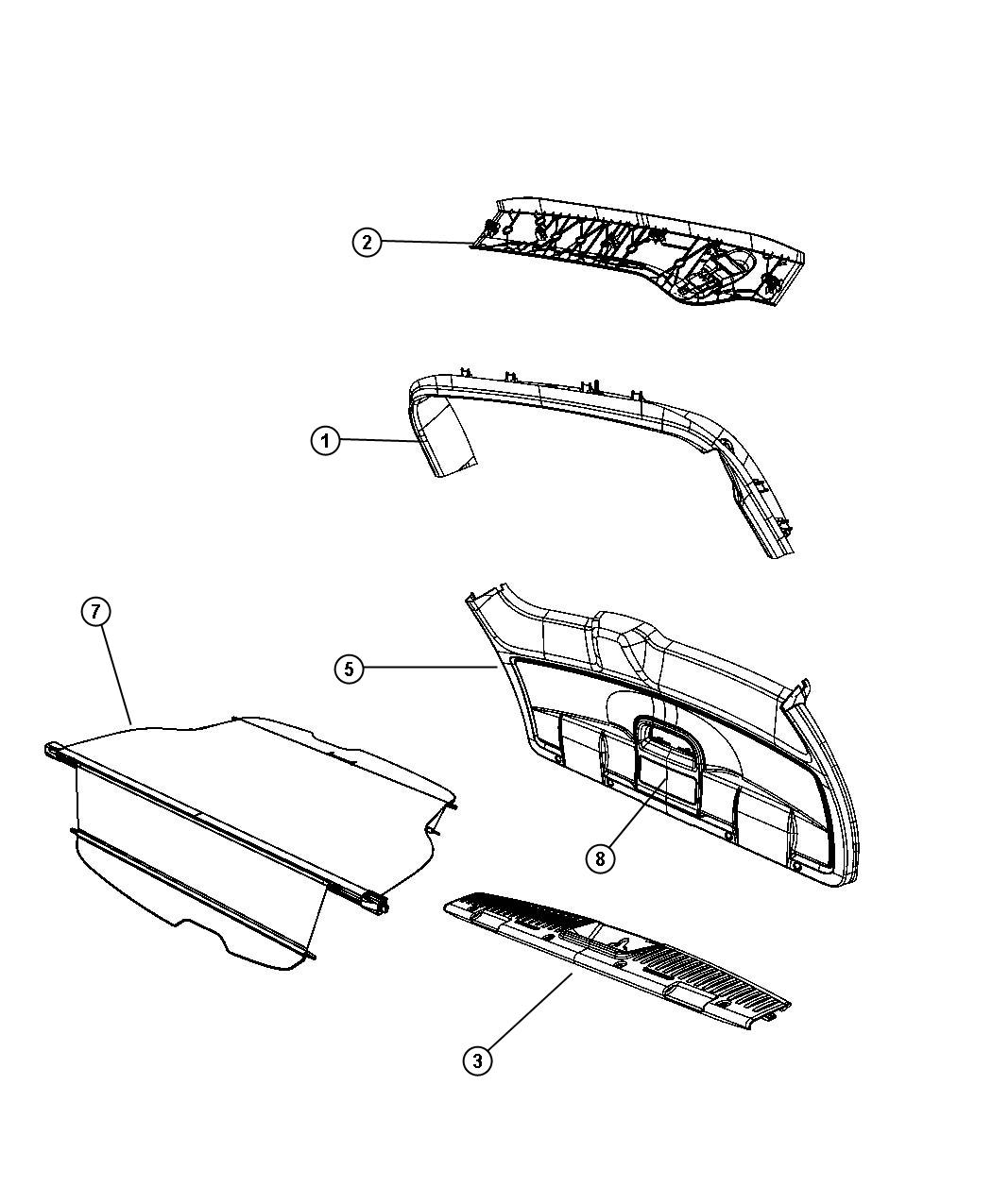 Chrysler Town Amp Country Screw Trim Power Liftgate