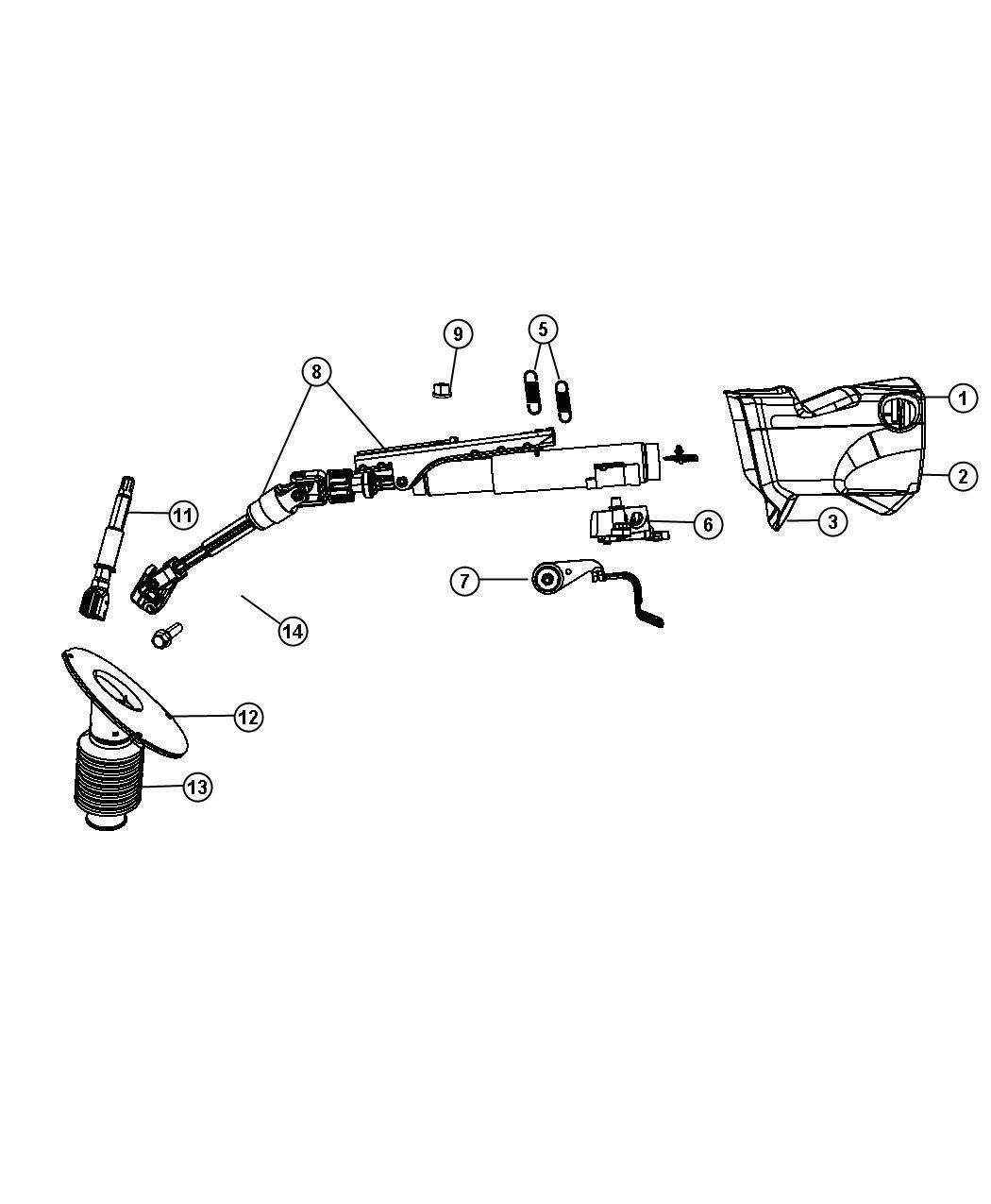 Dodge Grand Caravan Shroud Steering Column Lower T1