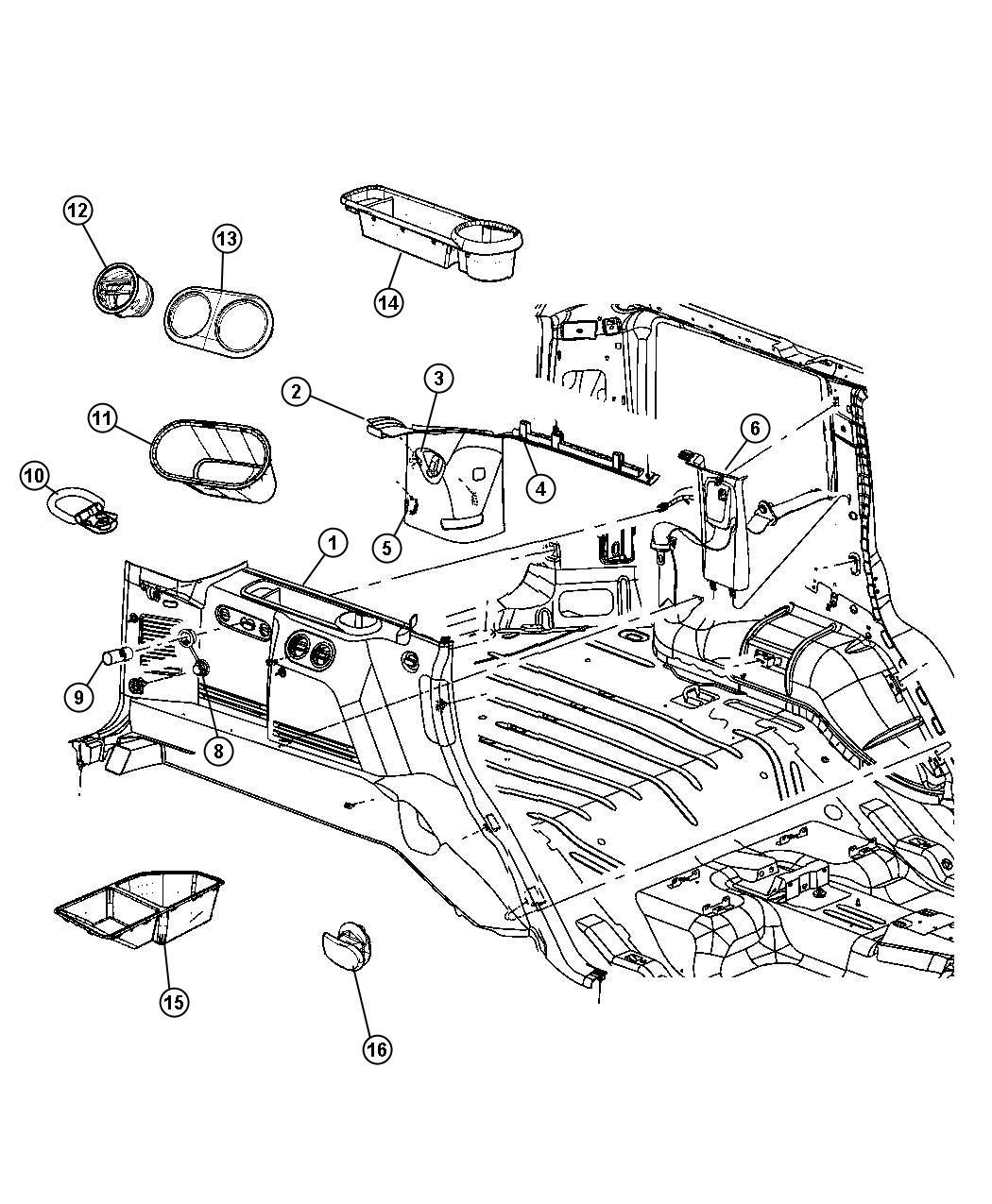 Jeep Commander Plug Release Handle Plug Trim O0