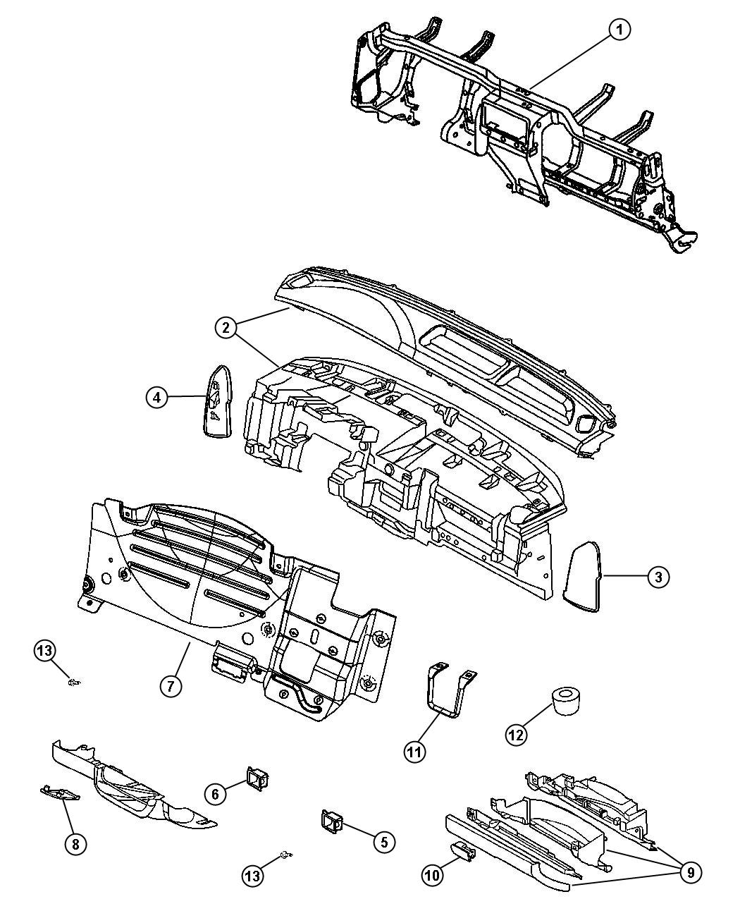 Dodge Dakota Panel Instrument Instrument Panel Jj