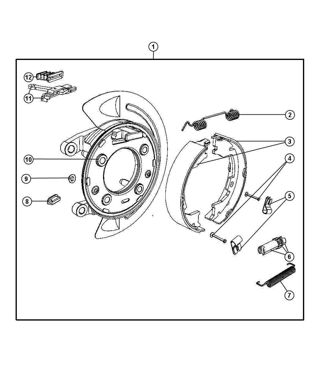 Dodge Ram Adapter Adapter Assembly Parking