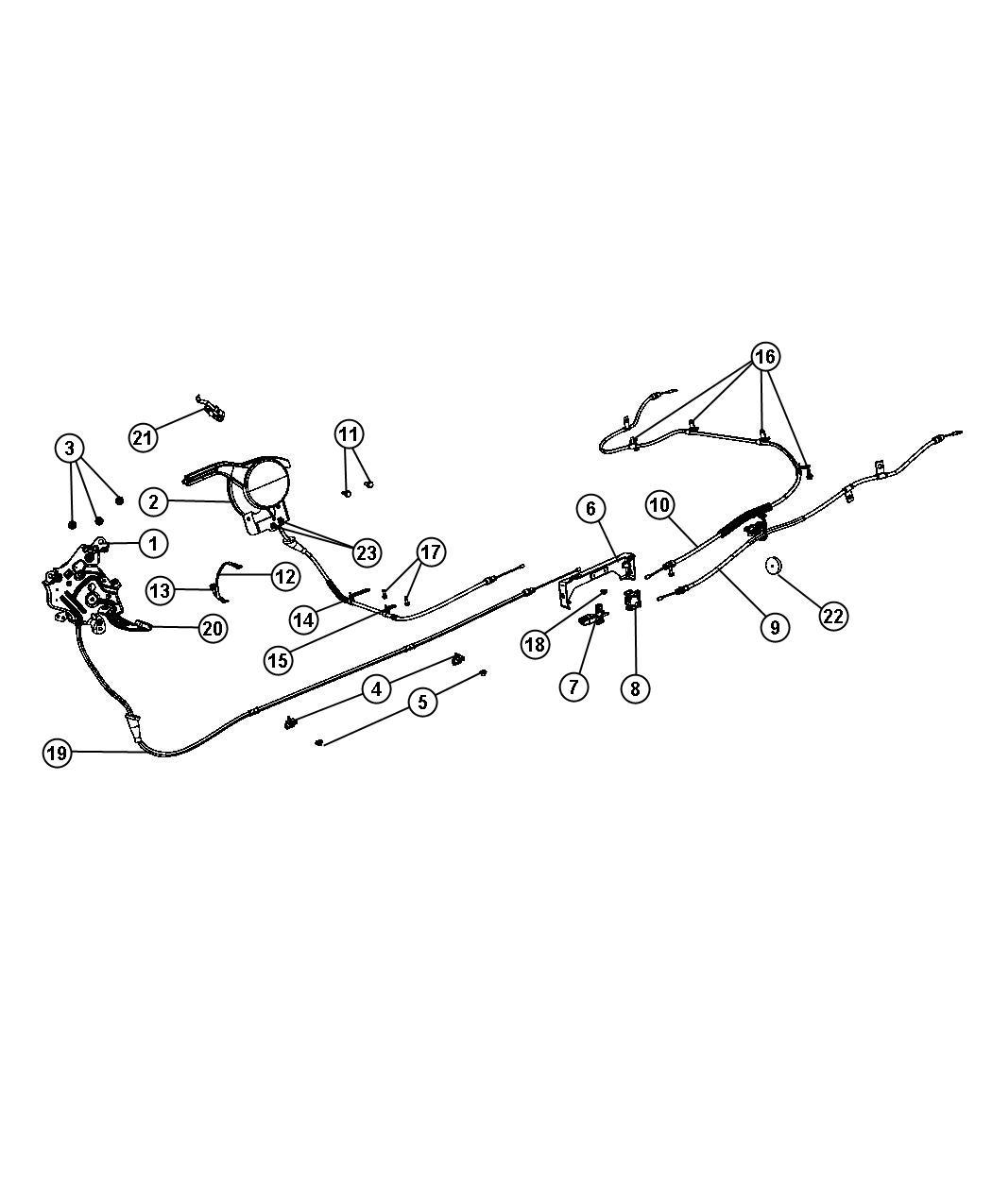 Dodge Journey Equalizer Parking Brake Cable