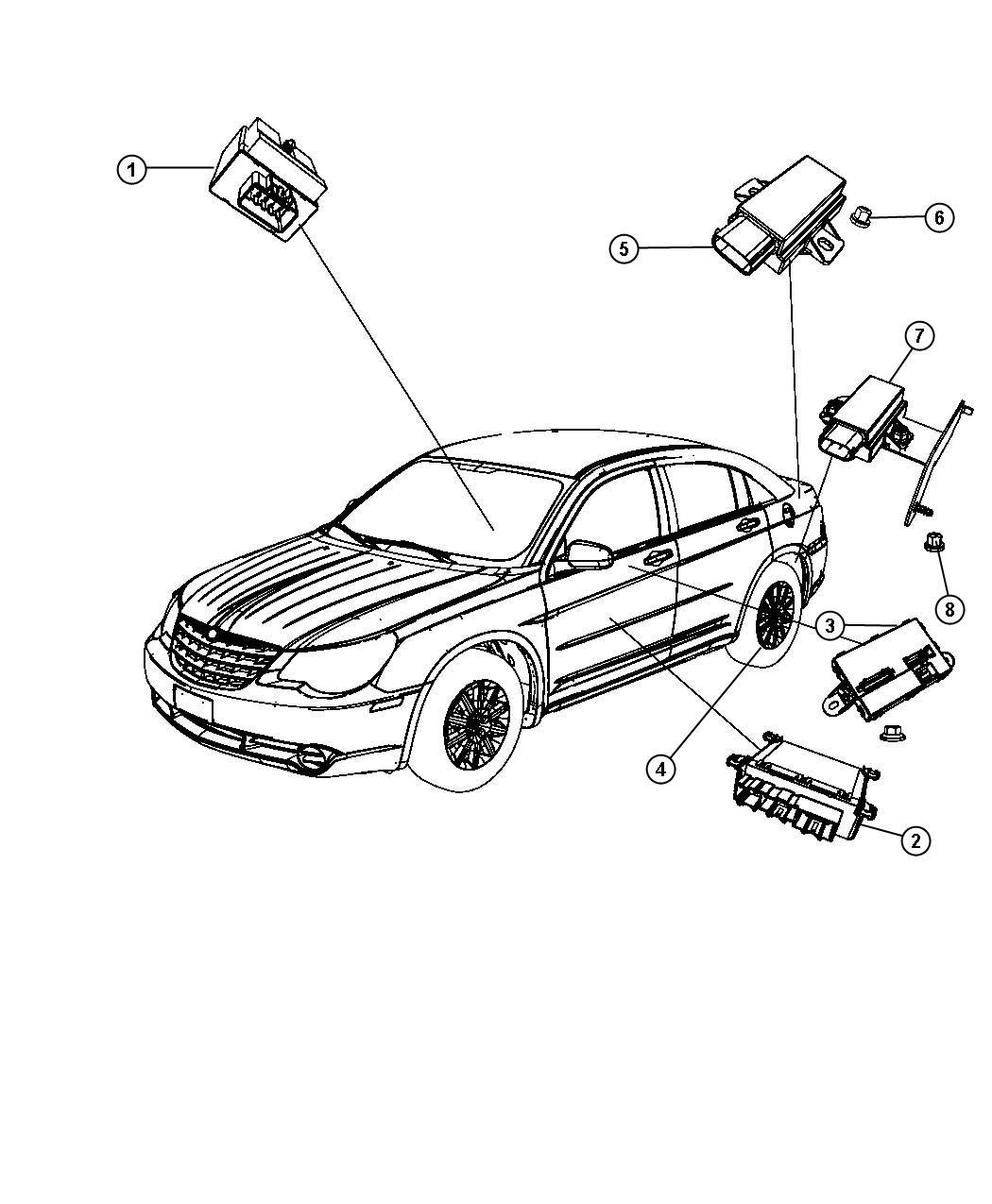 Chrysler Sebring Module Convertible Top Control