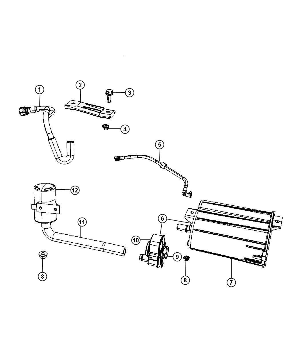 Jeep Filter Leak Detection Pump Assembly W Cap