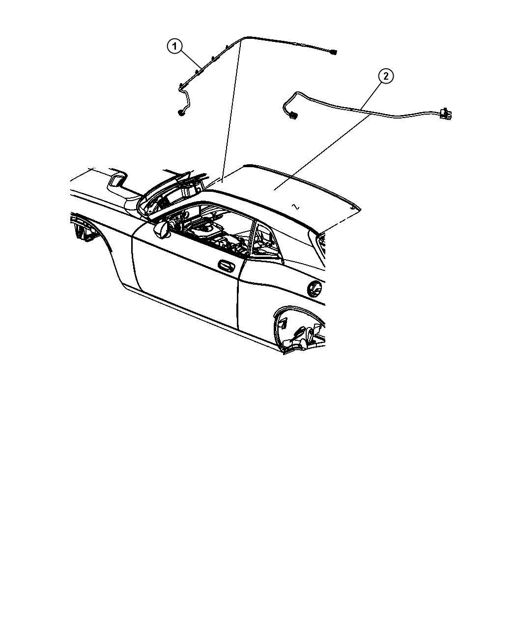 Dodge Challenger Wiring Mirror Jumper Rr View Auto Dim