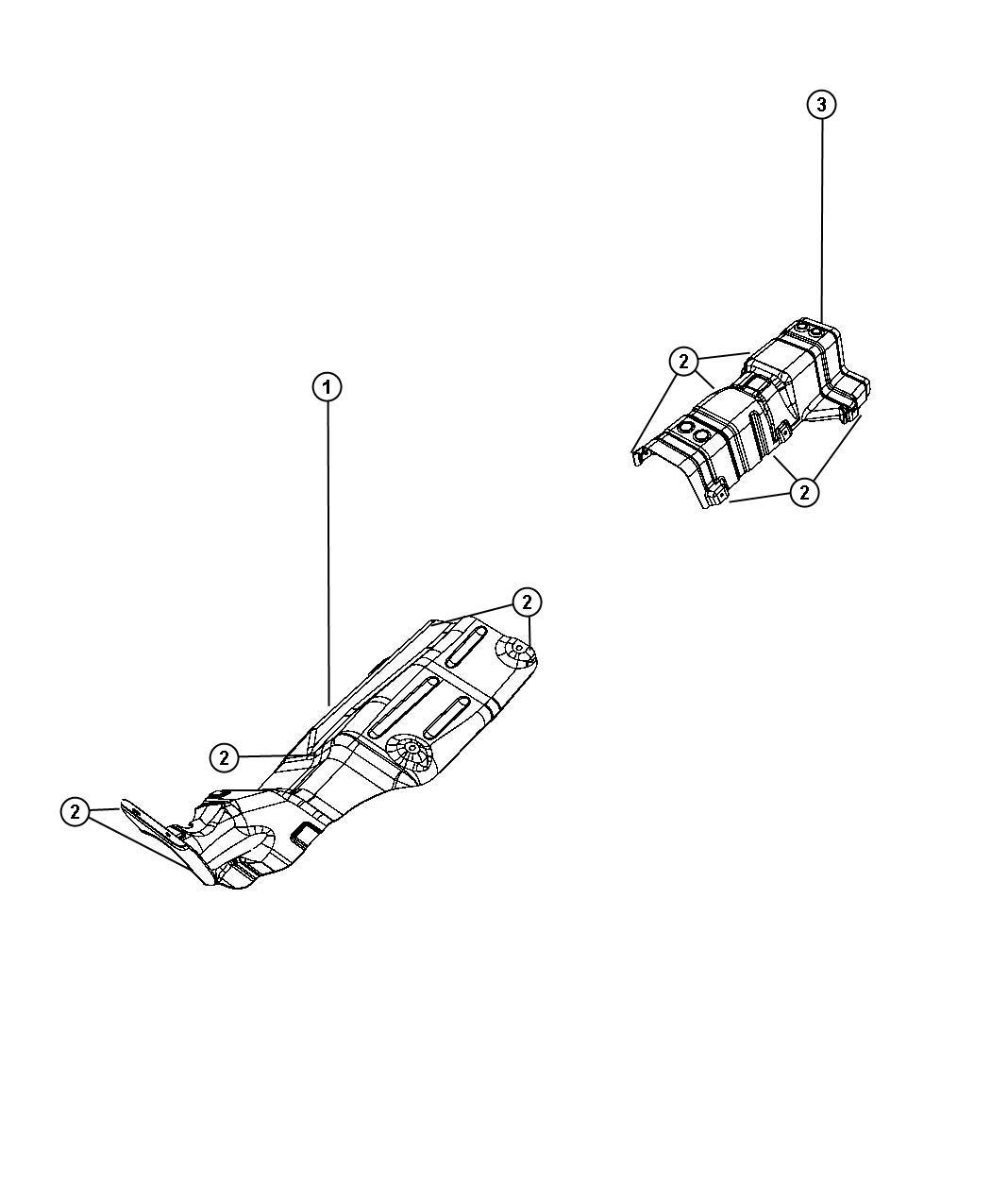 Dodge Journey Shield Converter Heat Catalytic Converter
