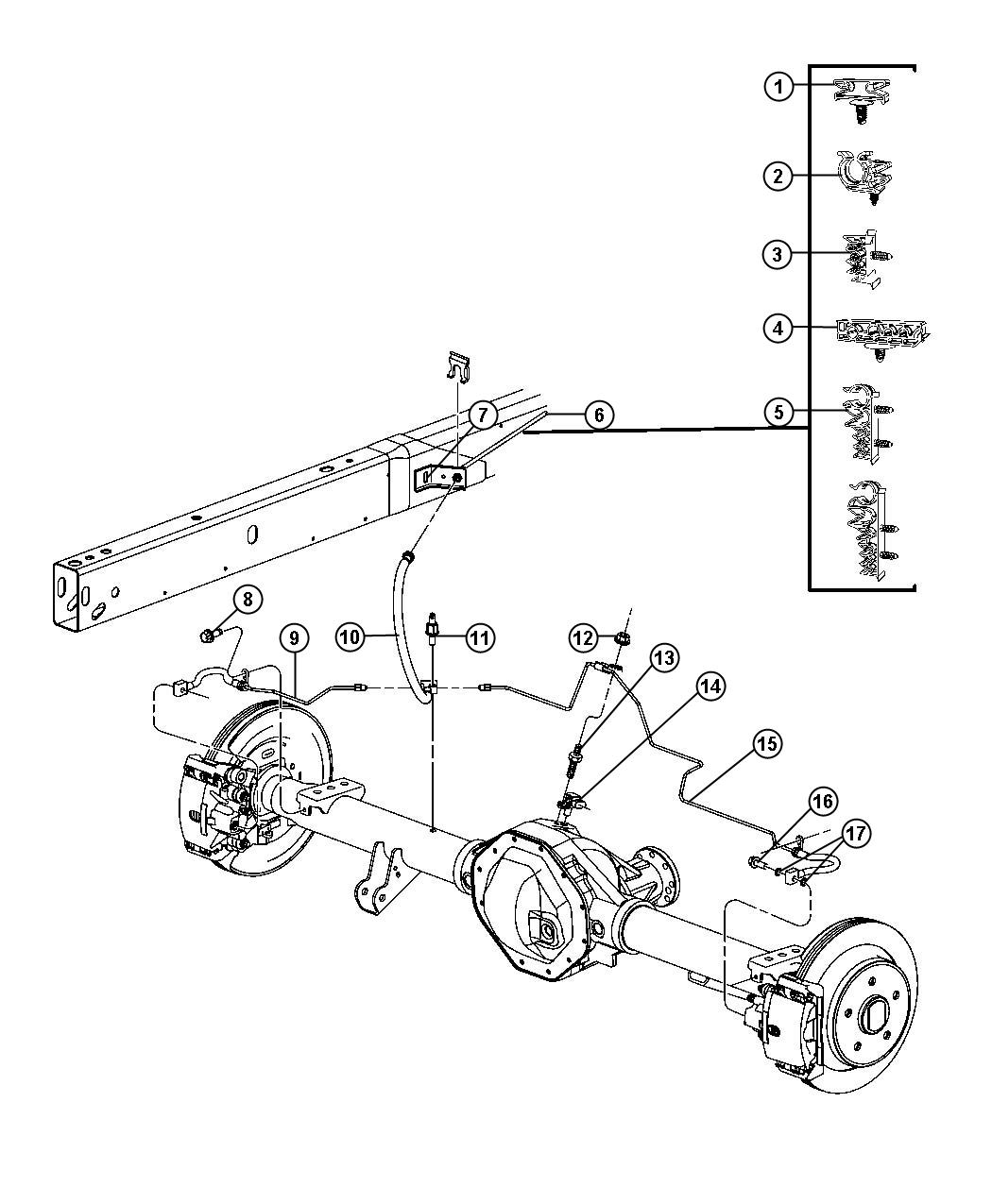Dodge Ram Tube And Hose Assembly Brake Right