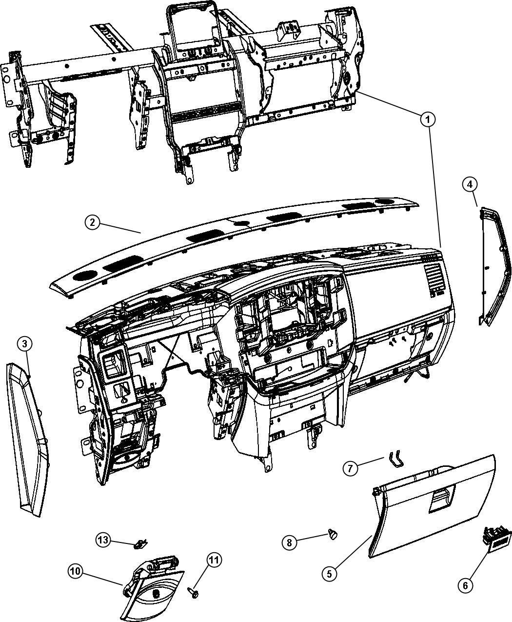 Dodge Durango Handle Parking Brake J3 Trim All Trim