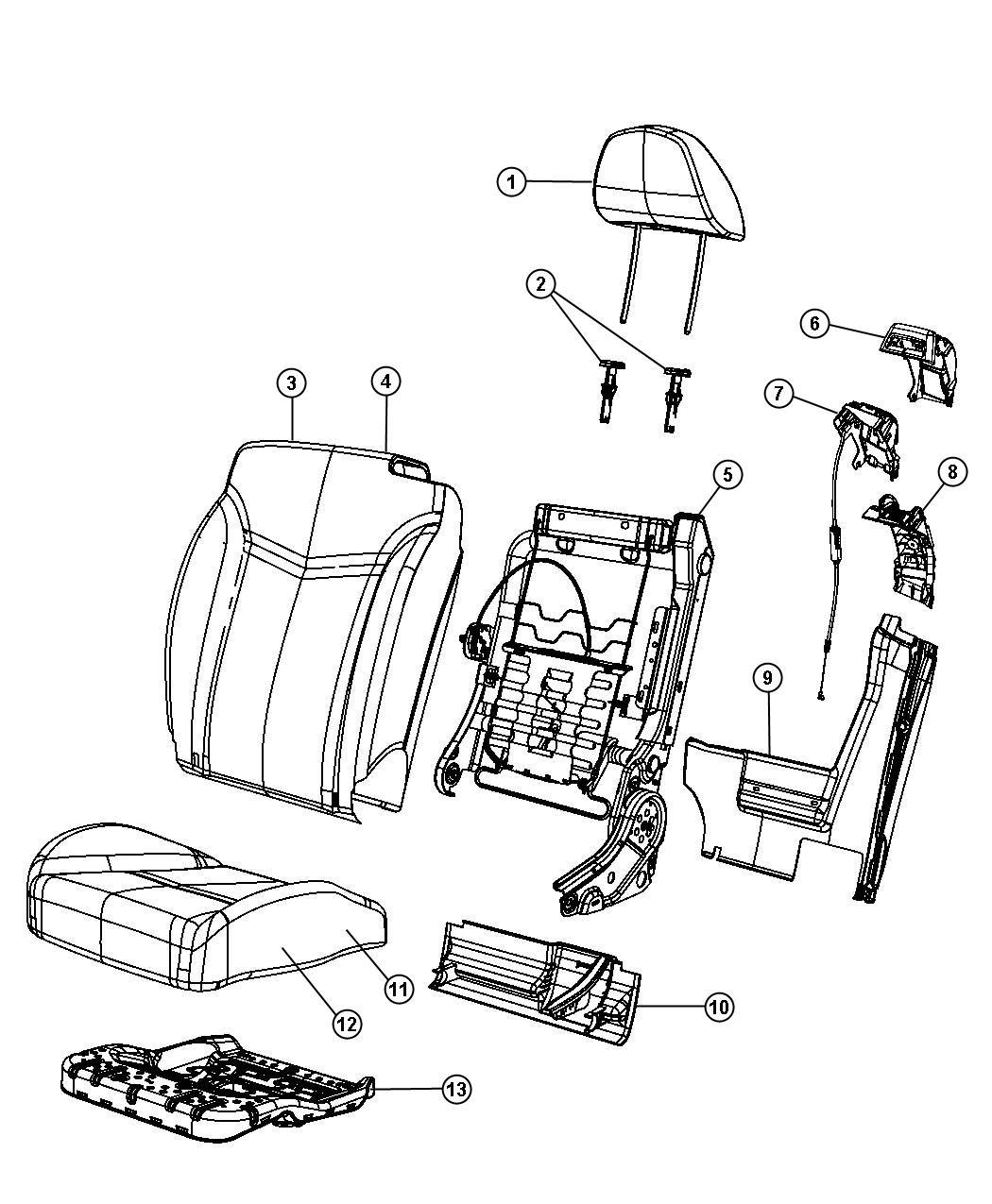 Chrysler Sebring Panel Seat Base Trim Prem Leather