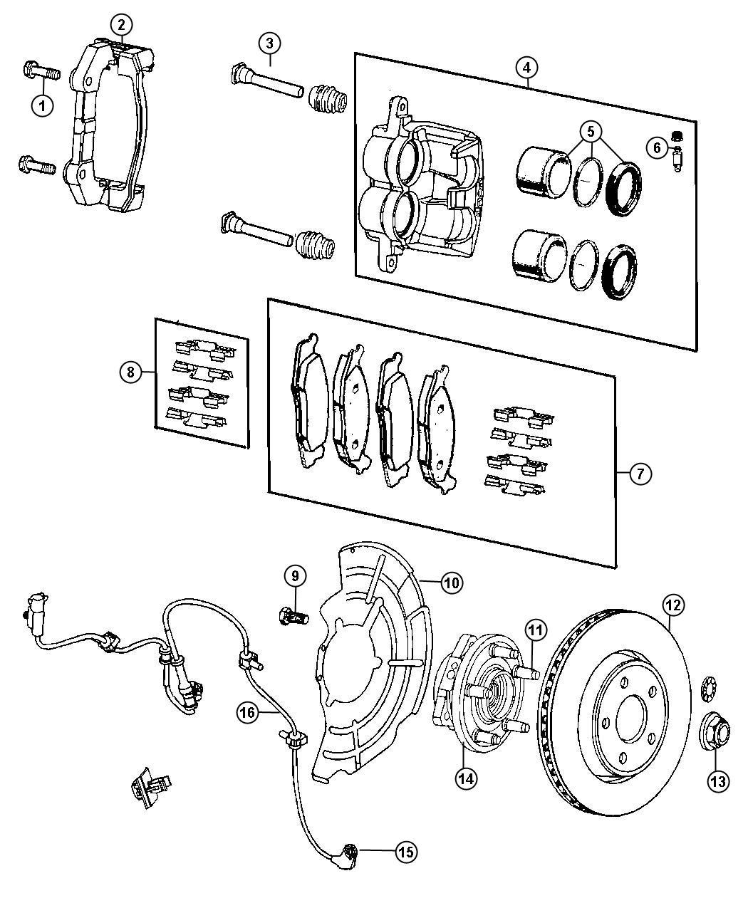 Jeep Grand Cherokee Pad Kit Front Disc Brake Bry