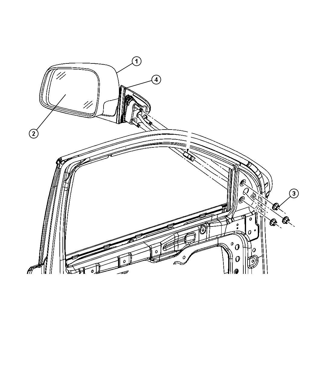 Jeep Grand Cherokee Mirror Right Outside Rearview Color