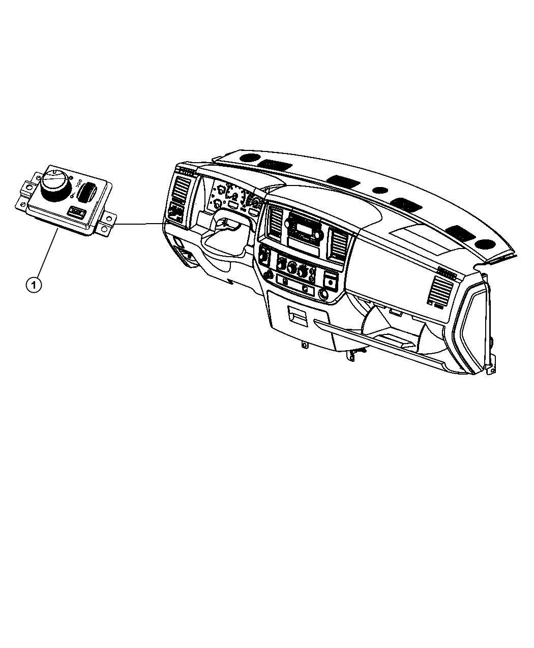 Dodge Dakota Switch Headlamp Lampfog Cargofog