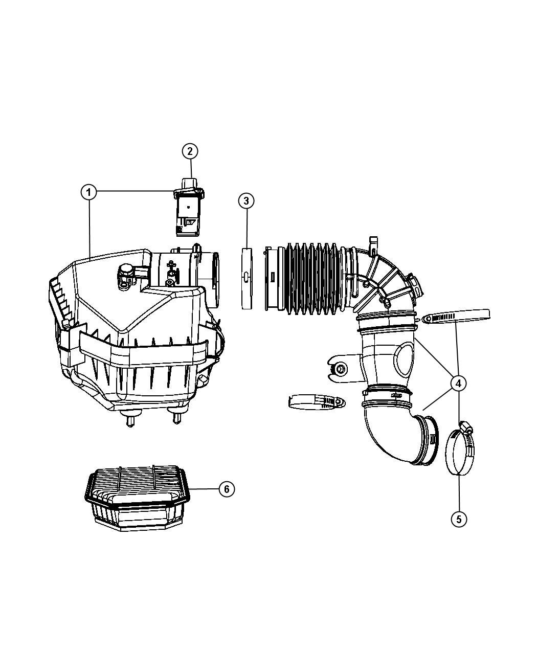 Air Cleaner 2 8lsel 2 8l 4 Cyl Turbosel Engine