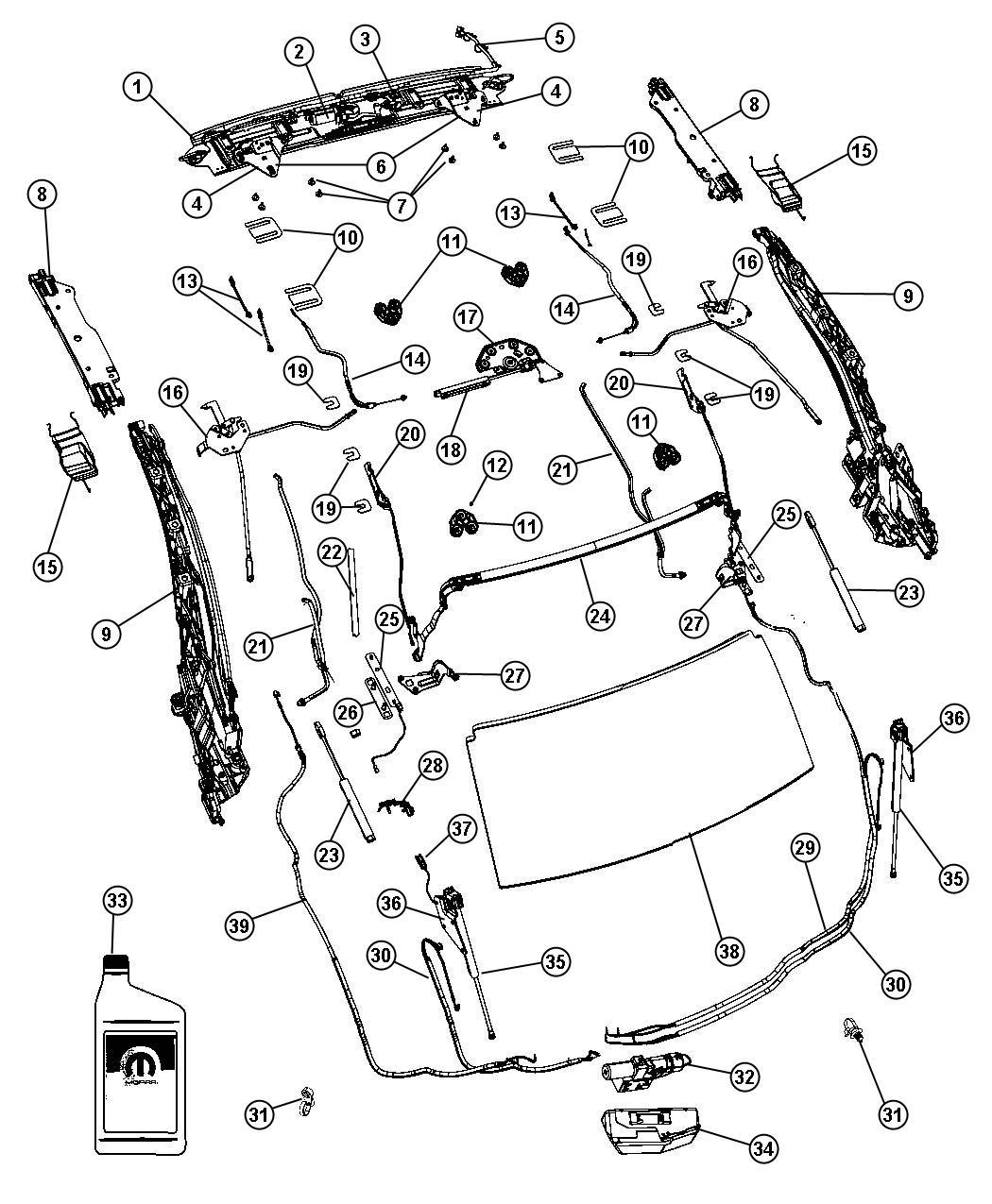 Chrysler Sebring Rivet 4x10 2