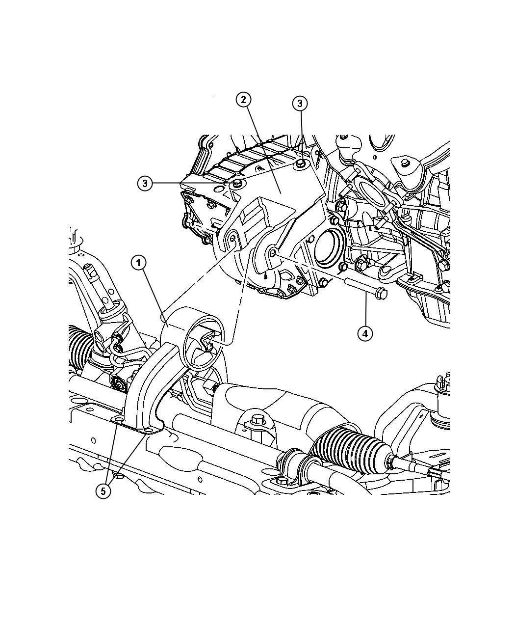 Chrysler Sebring Bushing Engine Mount Isolator Rear