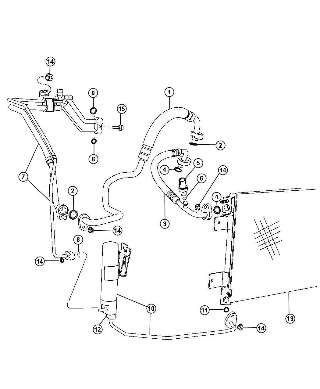 Jeep Compass Line A C Suction Storageair