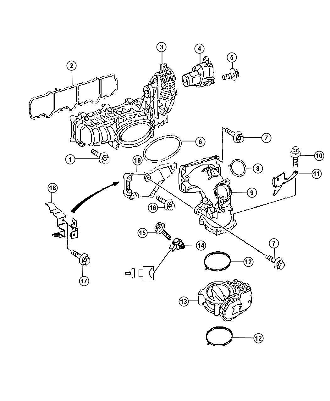 Intake Manifold 2 2lsel 2 2l 4 Cyl Turbosel Engine