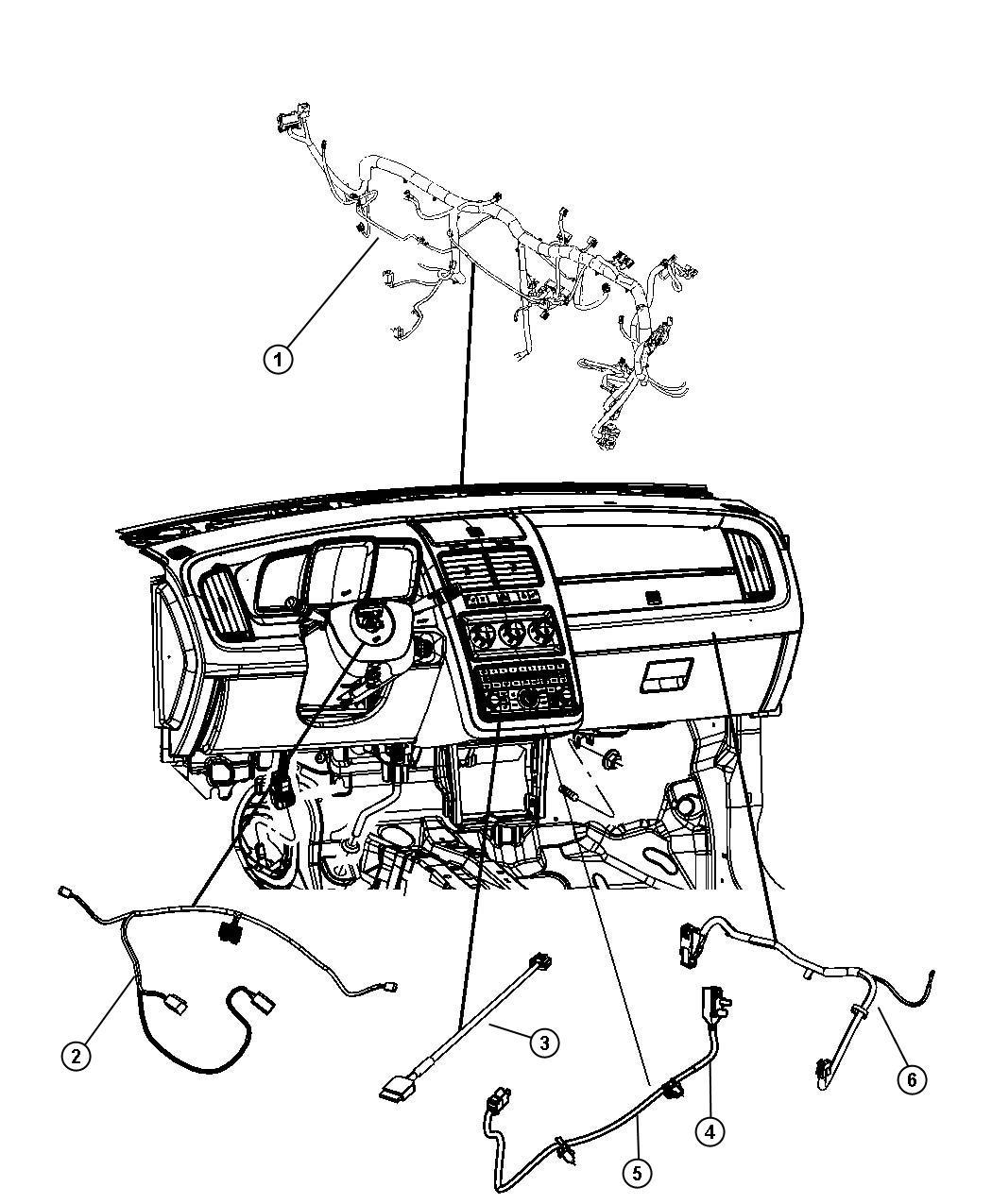 Dodge Journey Wiring Instrument Panel