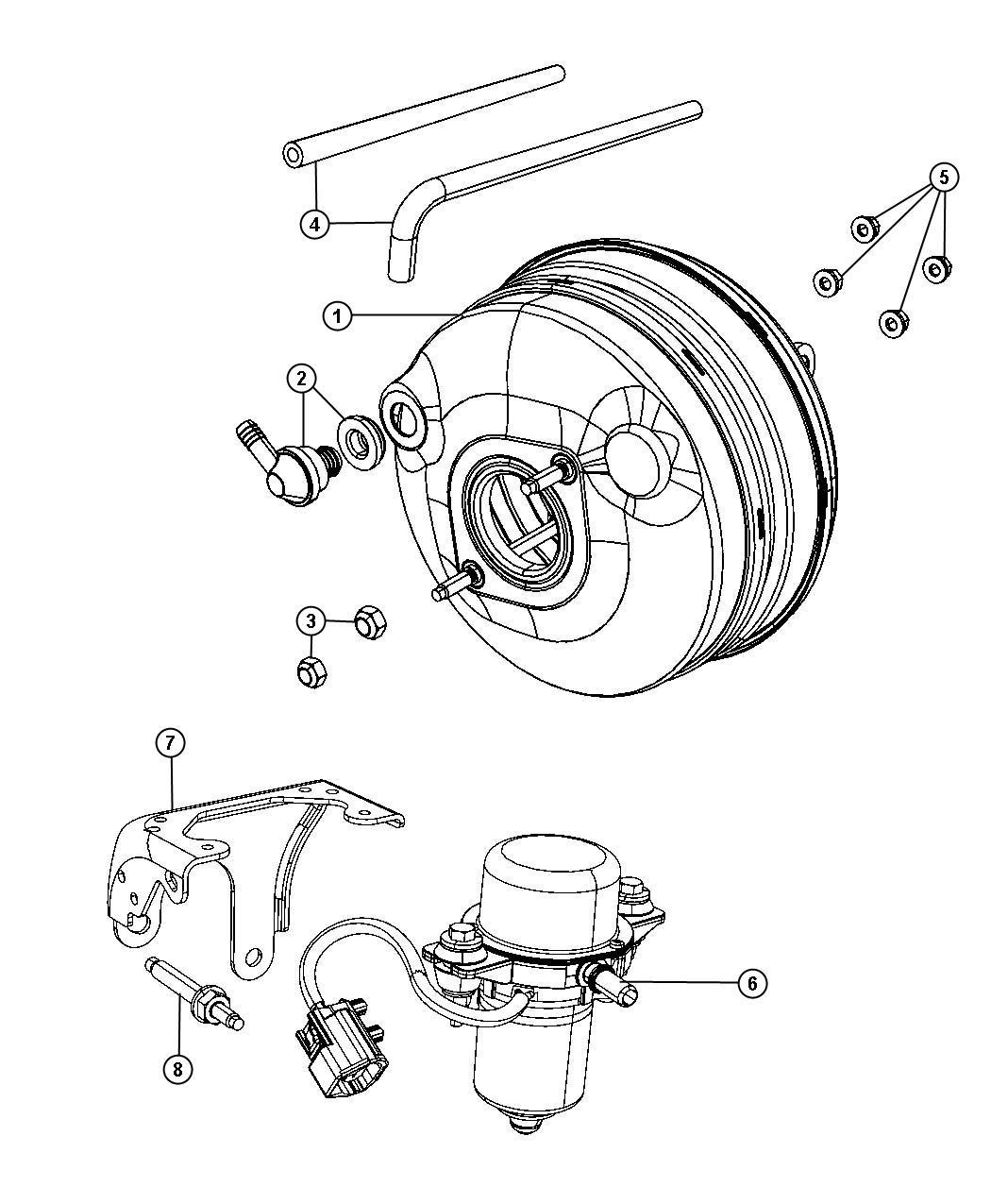 Dodge Grand Caravan Booster Power Brake