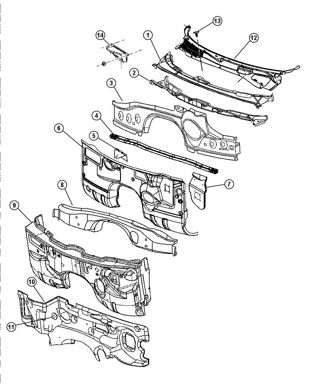 Dodge Charger R T 5 7l Hemi V8 Crossmember Floor Pan