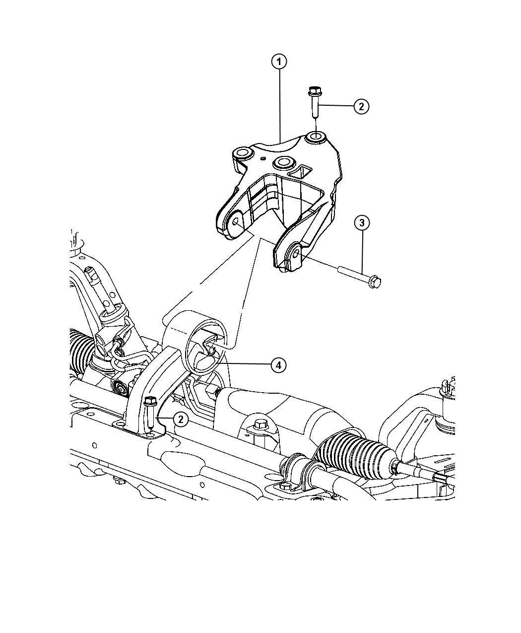 Dodge Avenger Bracket Engine Mount Rear