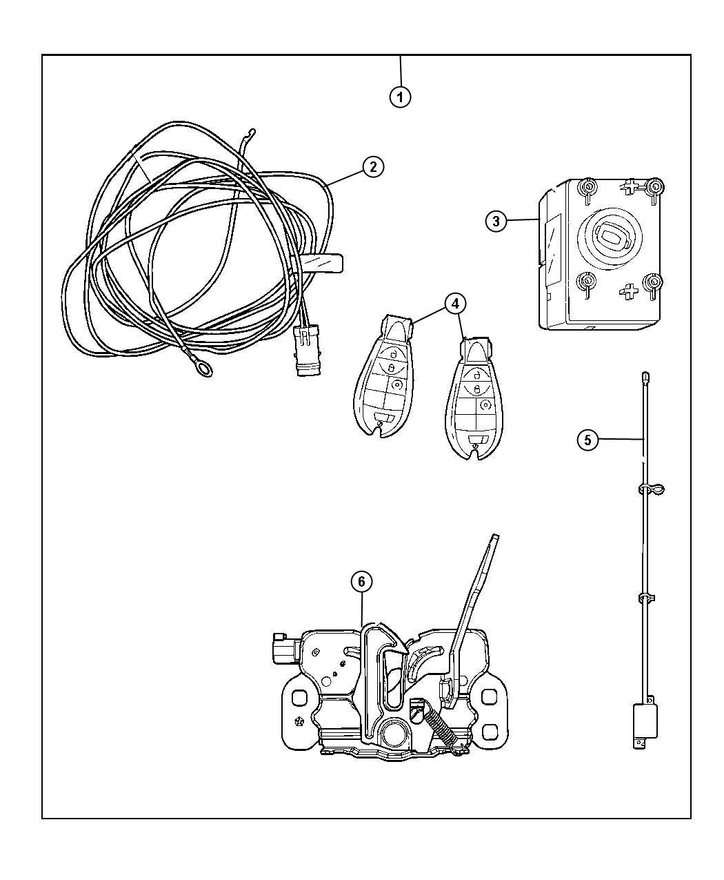 jeep wrangler antenna keyless entry