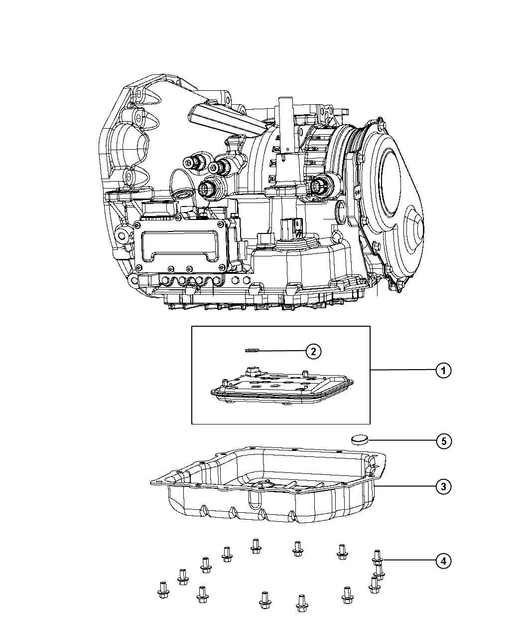 Dodge Stratus Filter Kit Filter Package Transmission Oil