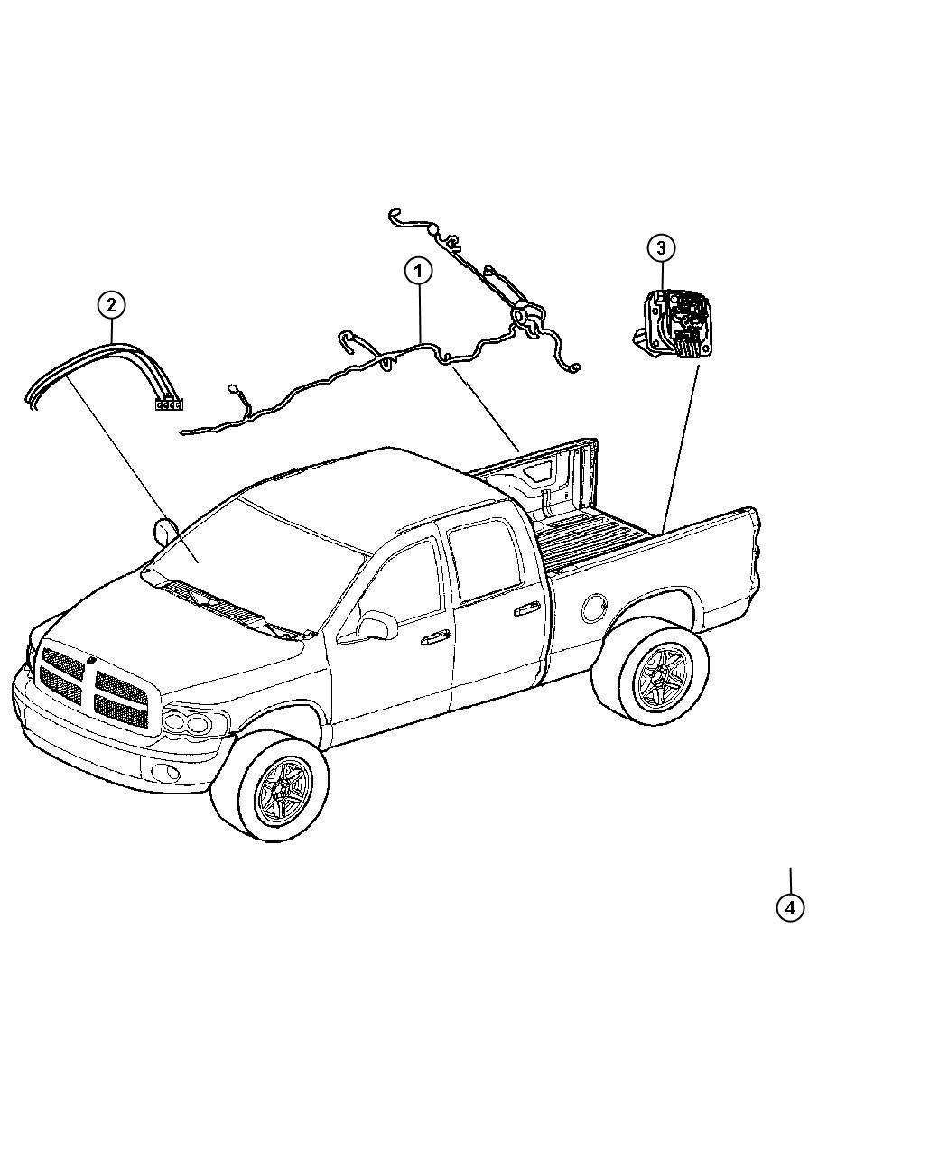 Ram Wiring Chassis Delete Pickup Box