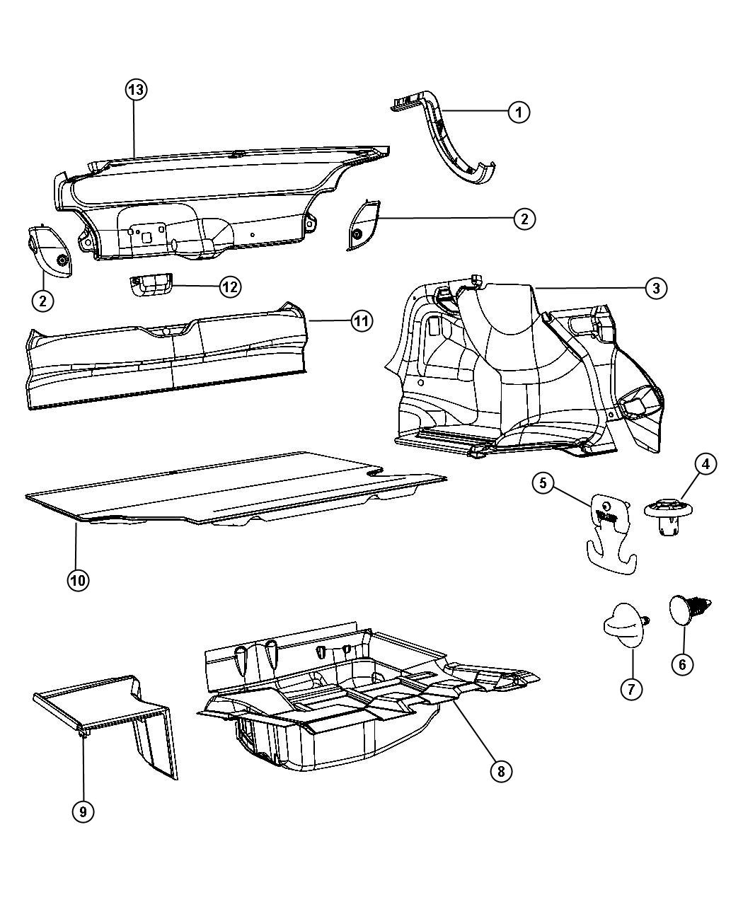 Dodge Charger Pin Push M8 3x19 00 Ahb