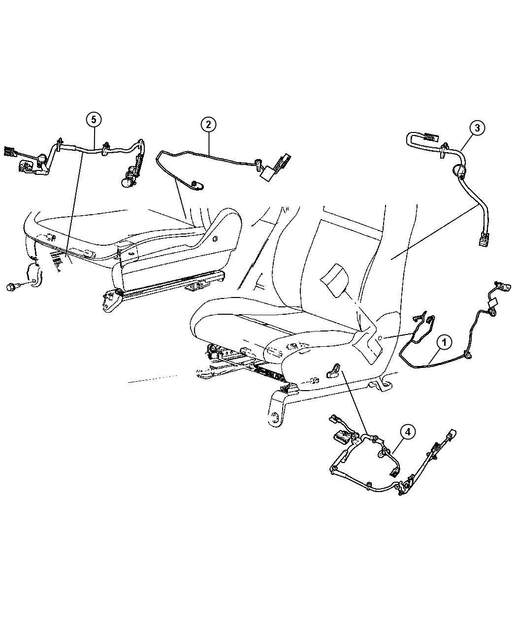 Dodge Durango Wiring Power Seat Trim Cloth Low Back