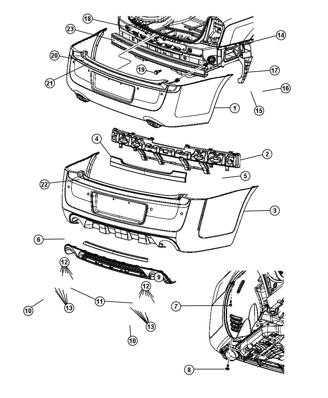 Chrysler Absorber Rear Energy Stuffer Bclr