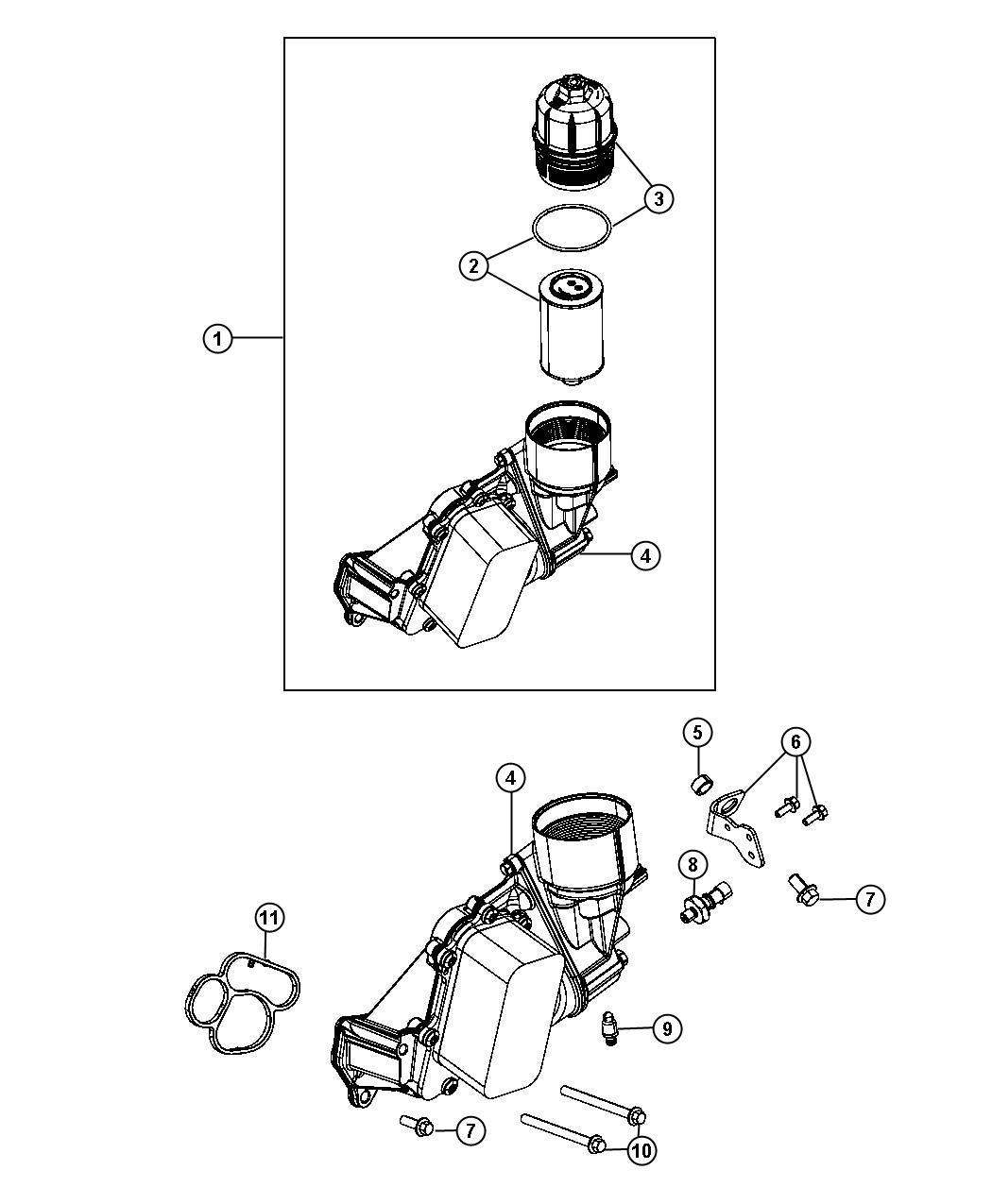 Jeep Filter Engine Oil Nb4 Nbc Housingcooler