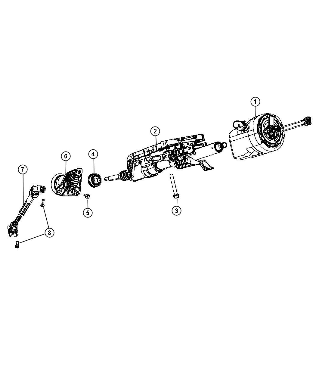 Jeep Grand Cherokee Column Steering Tilt Telescope