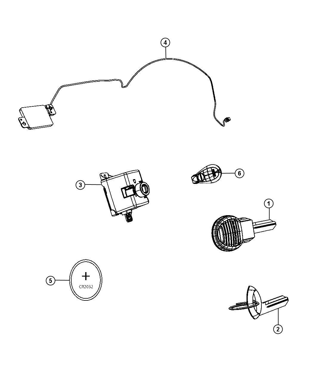 Ram Transmitter Integrated Key Fob