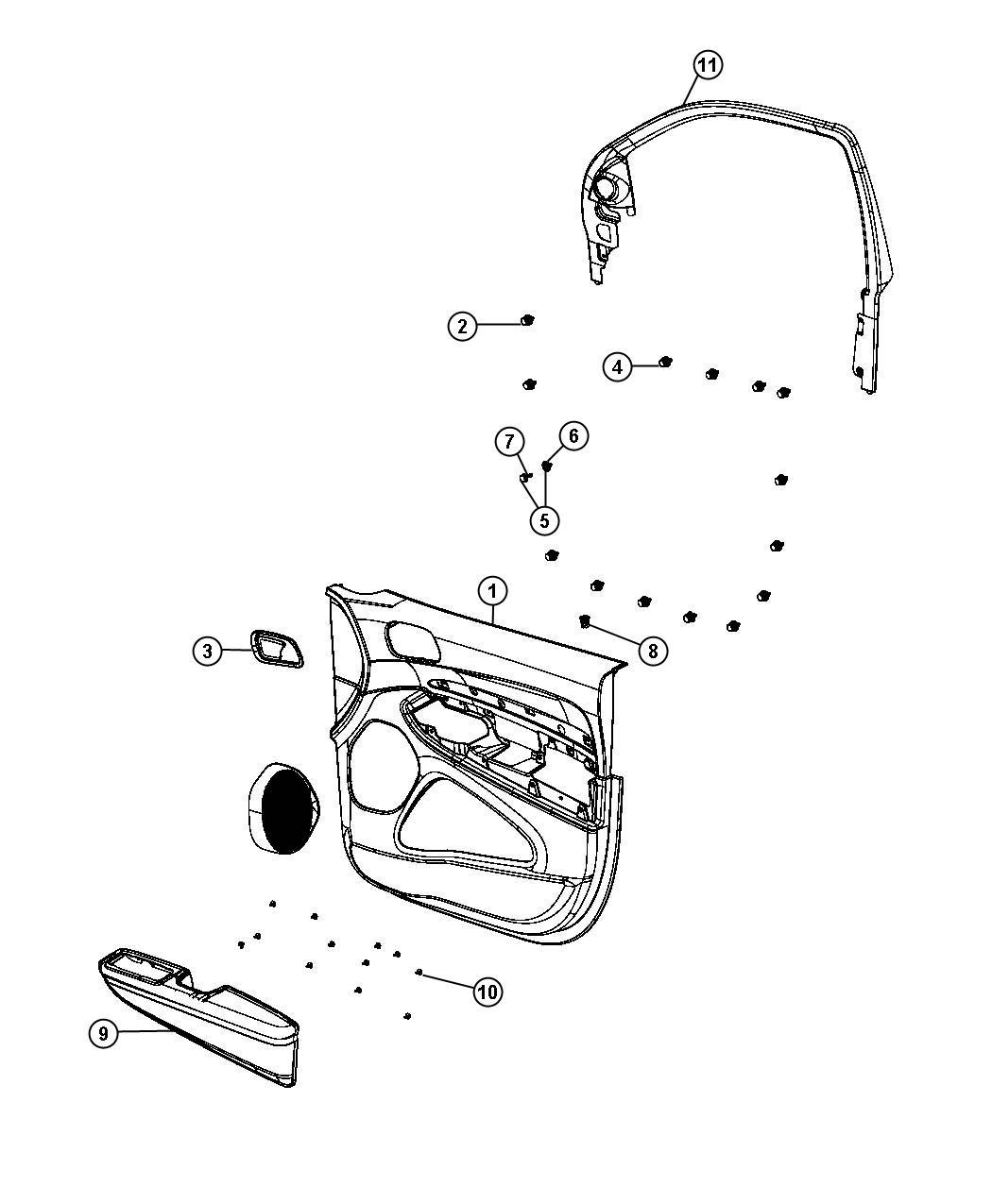 Dodge Durango Grommet Lock Knob Right Trim No