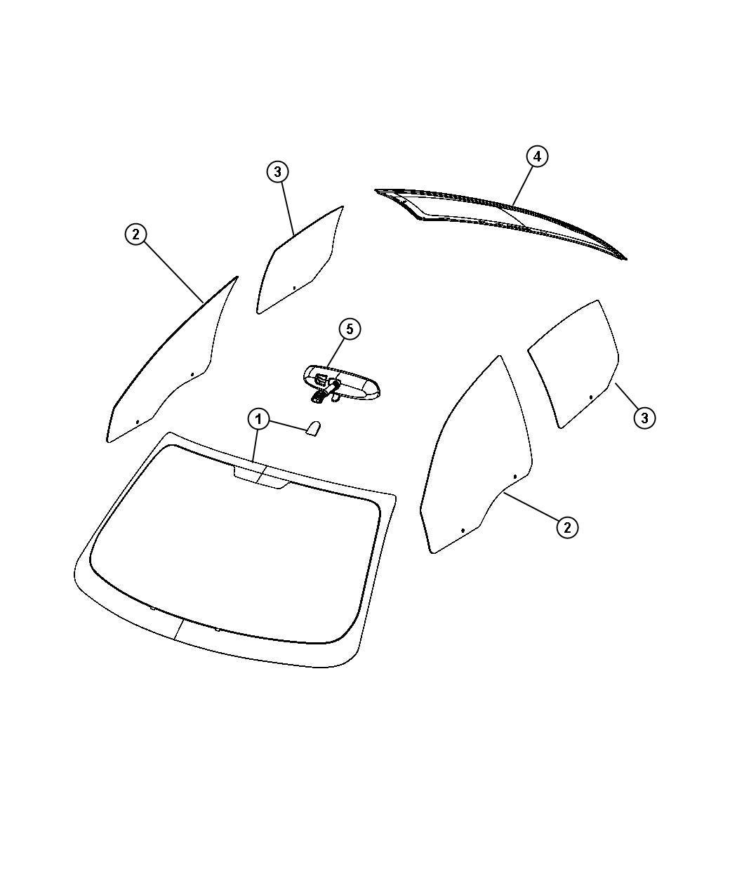 Dodge Dart Cover Mirror Right Smartbeam