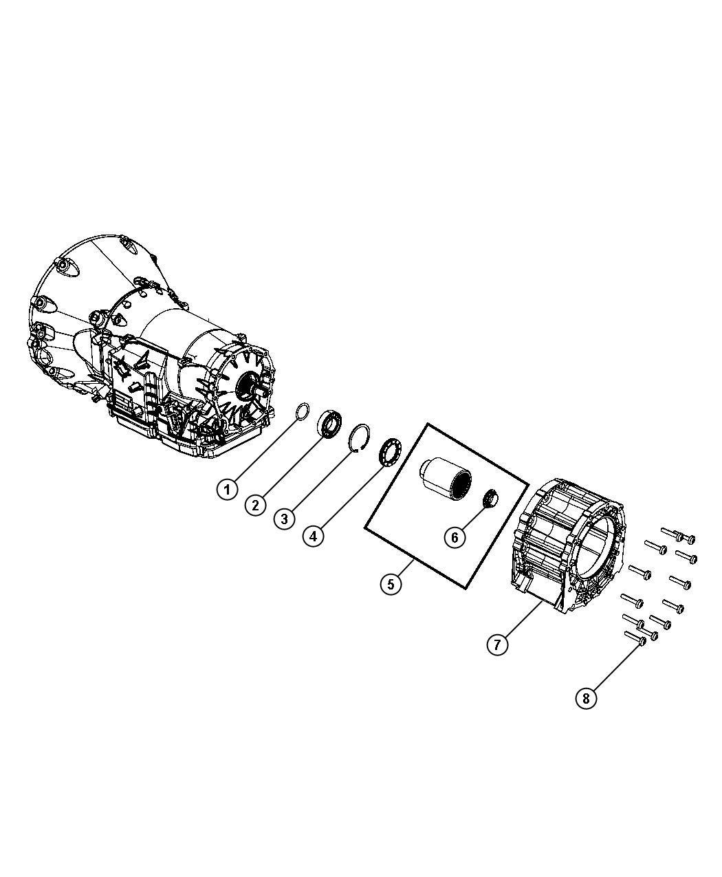 Jeep Grand Cherokee Adapter Transfer Case
