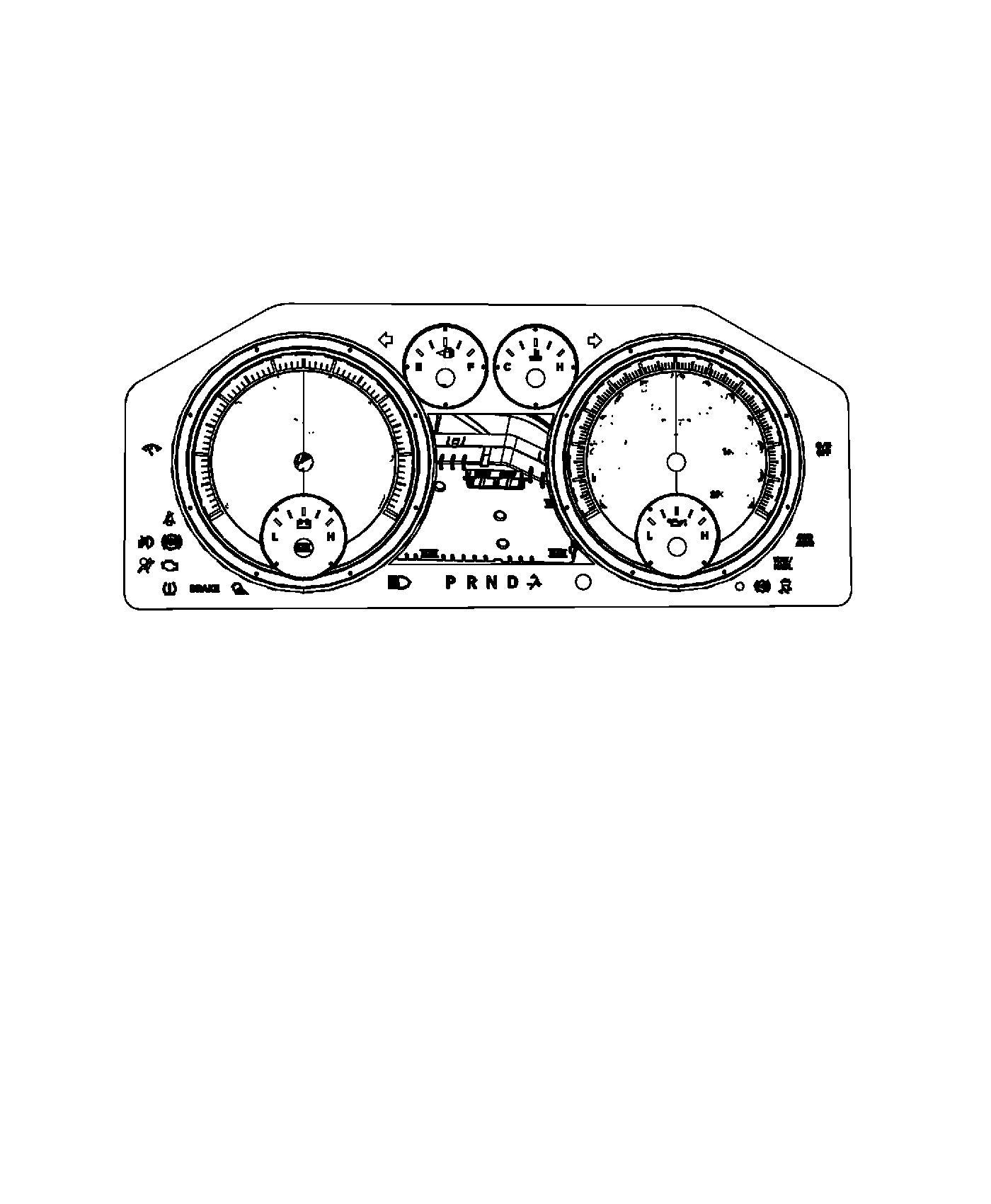 Dodge Ram Cluster Instrument Panel Jcb