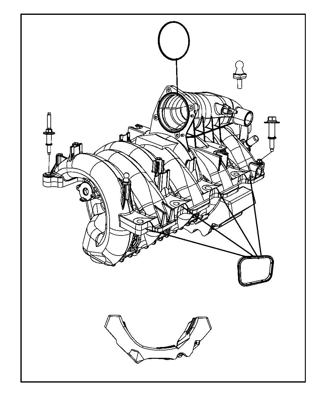 Dodge Ram Intake Manifold 4 7l 4 7l V8 Engine