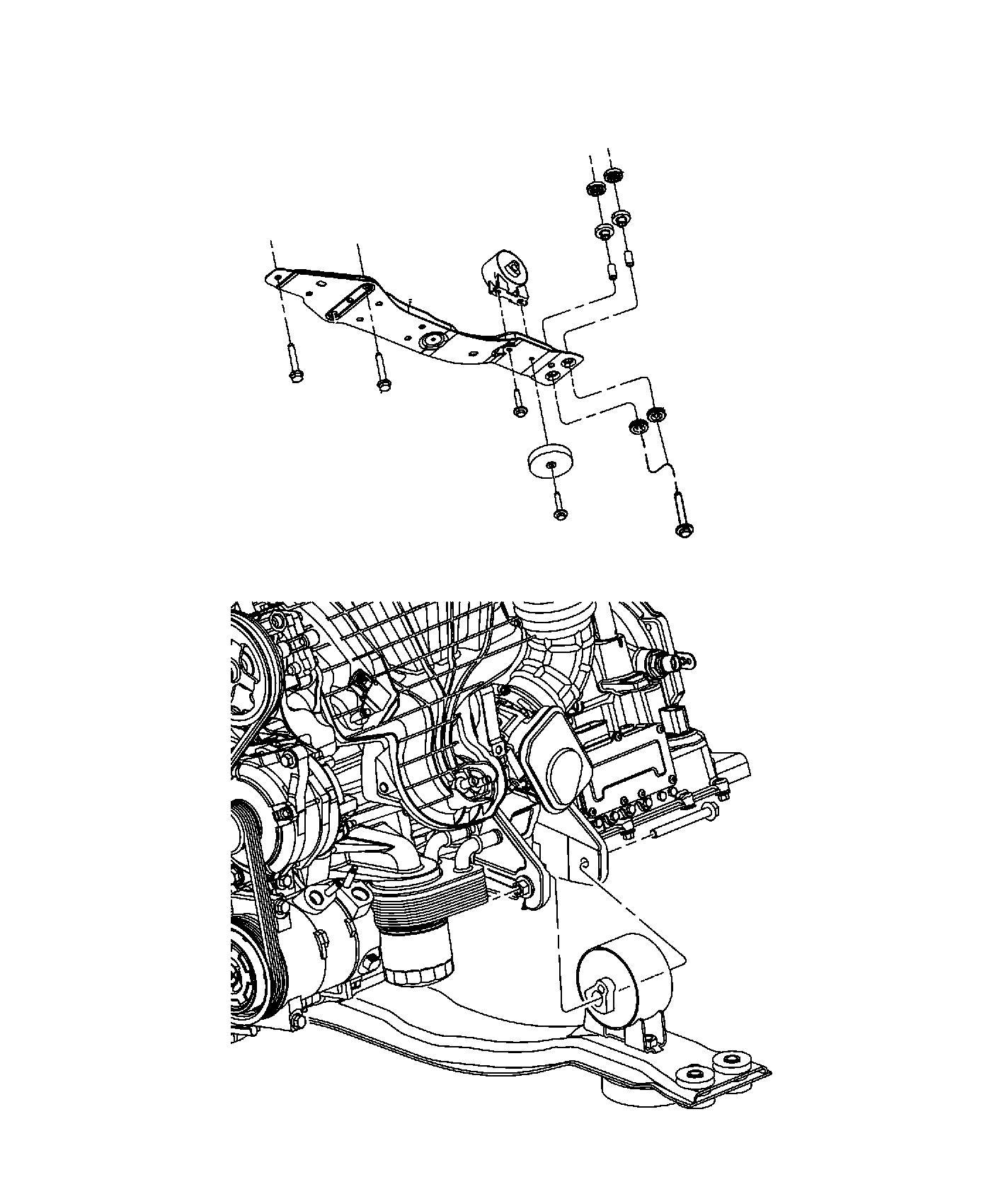 Chrysler 200 Bracket Engine Mount Front