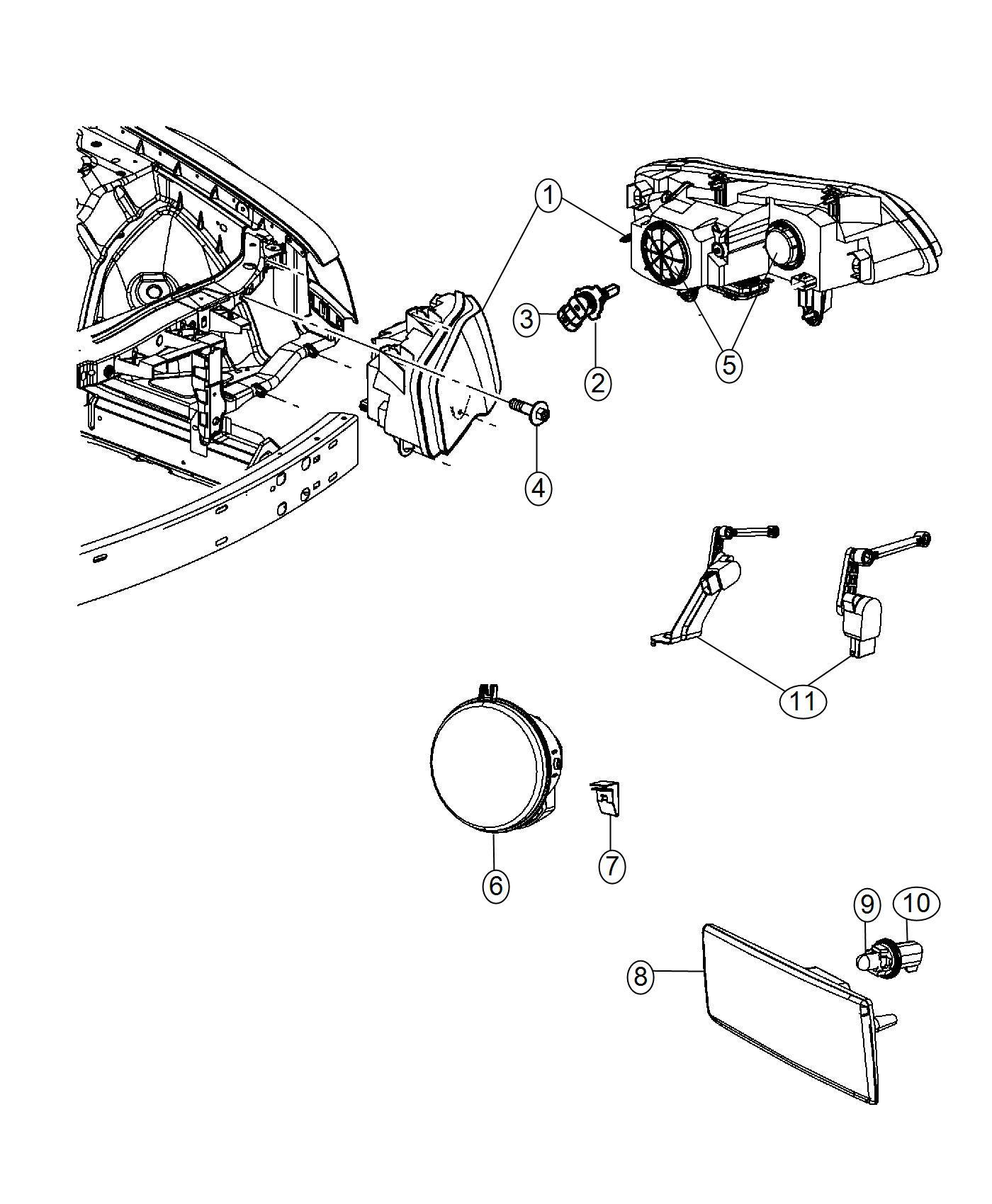Chrysler 300 Headlamp Right